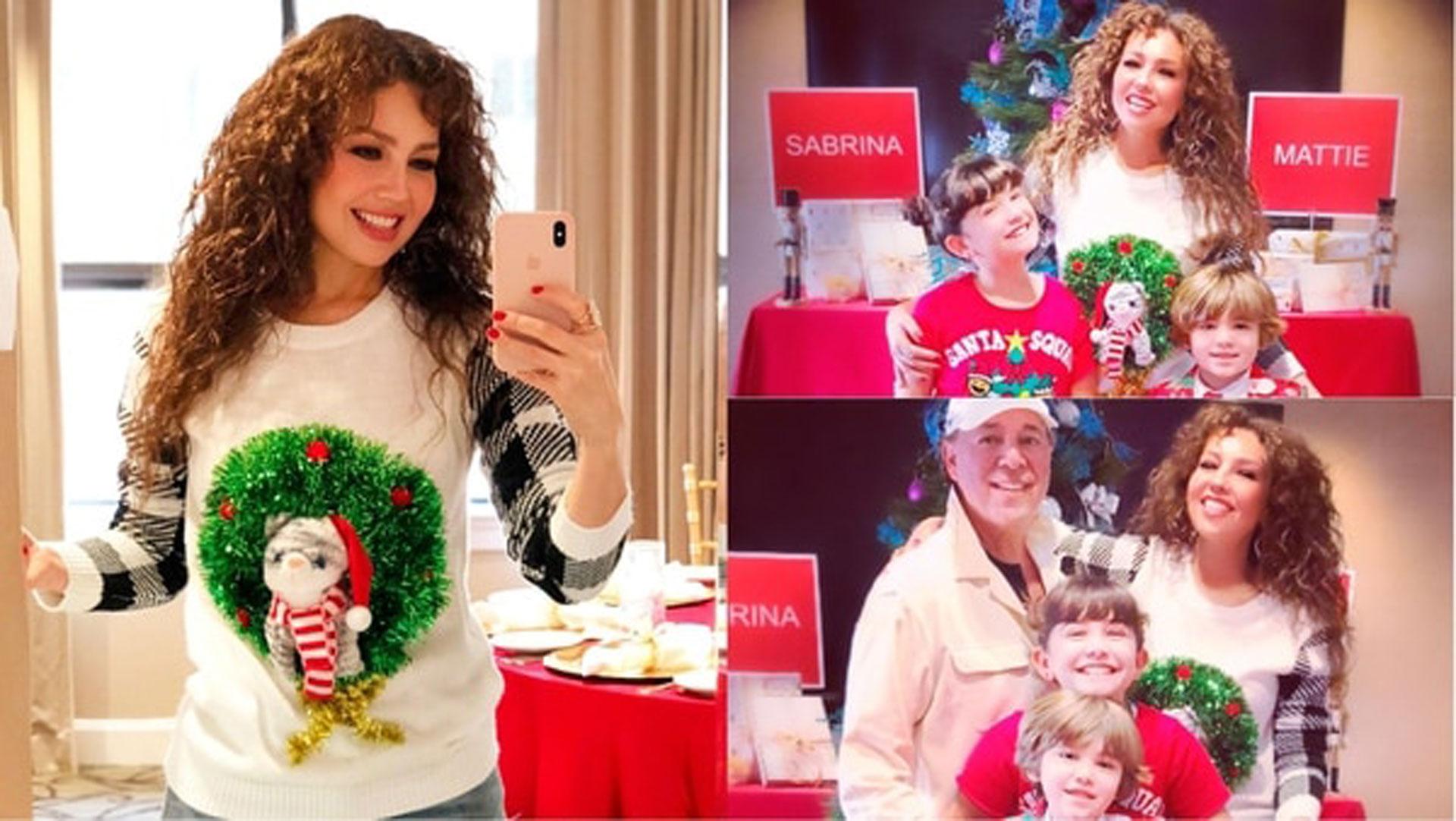 Las imágenes que compartió Thalia para la Navidad. (Foto: Instagram)