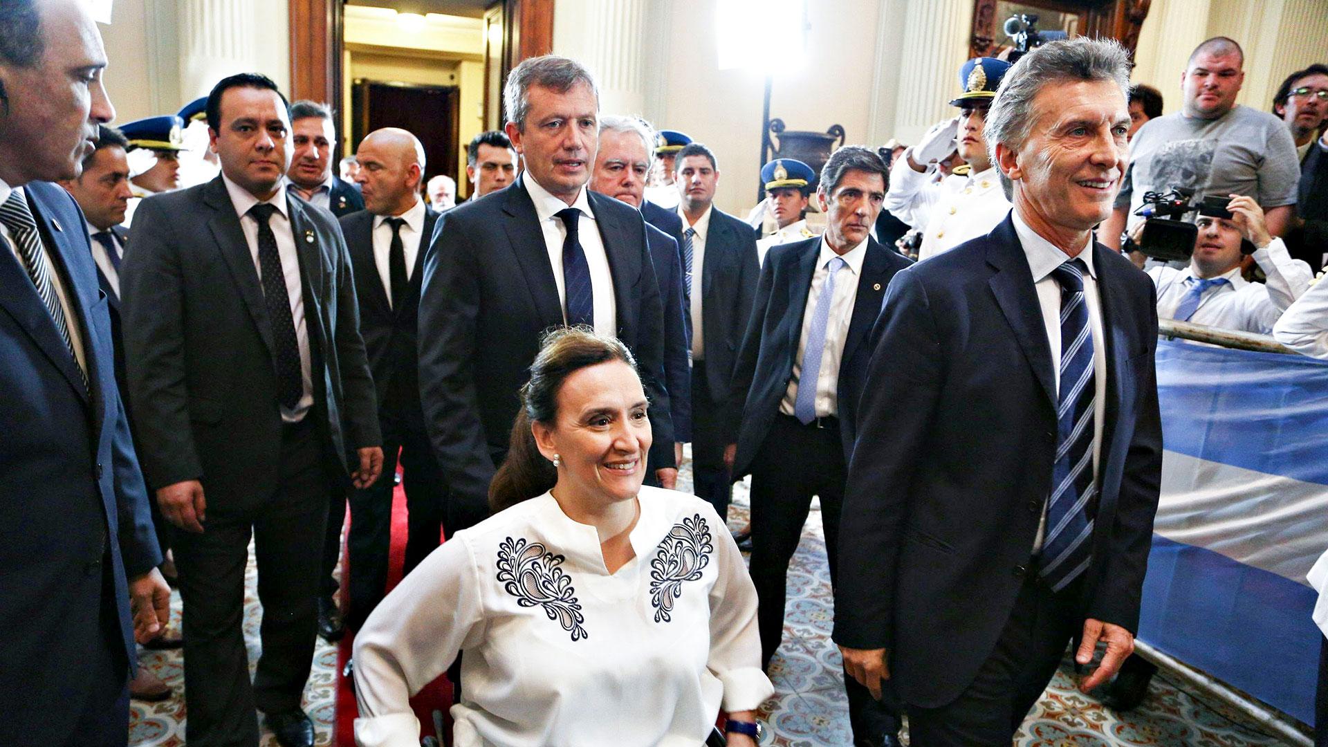 Macri junto a Michetti en la Asamblea Legislativa de 2016