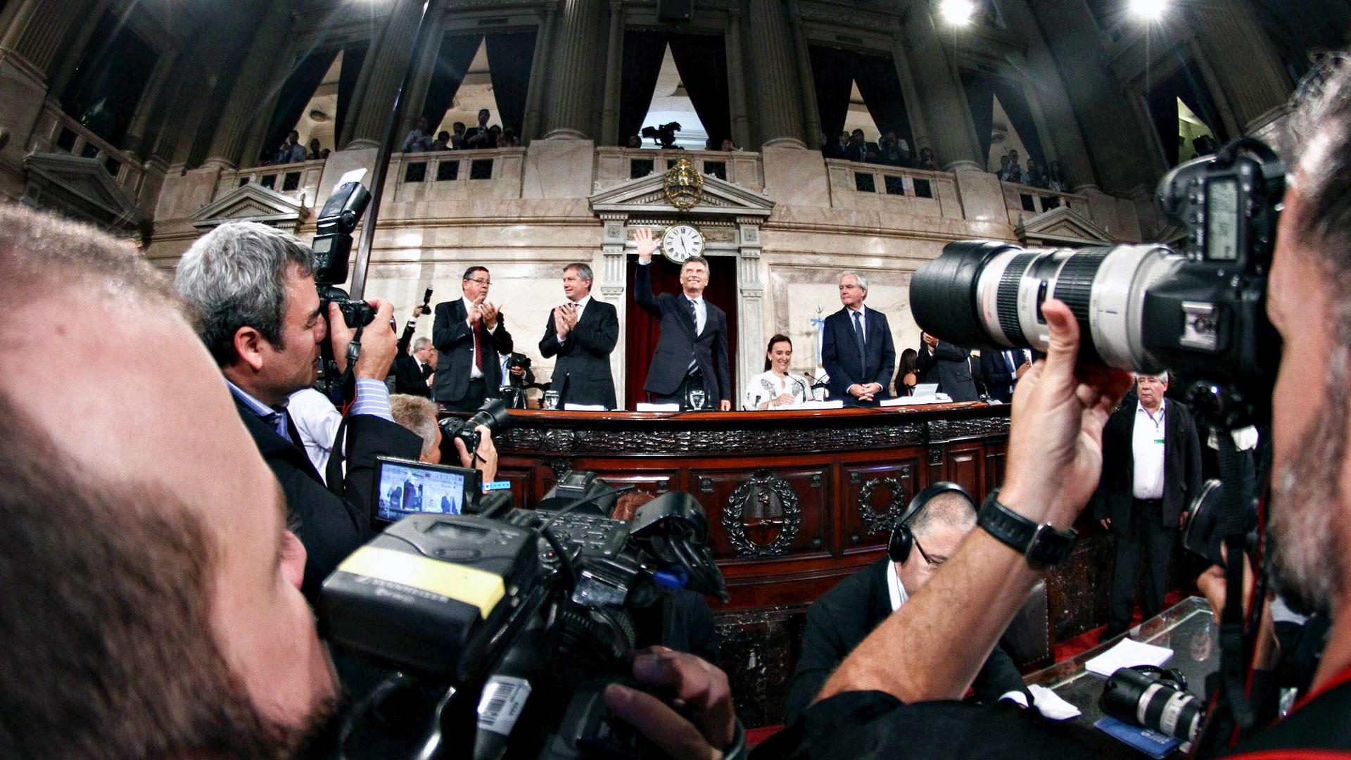 Mauricio Macri en la Asamblea Legislativa de 2016