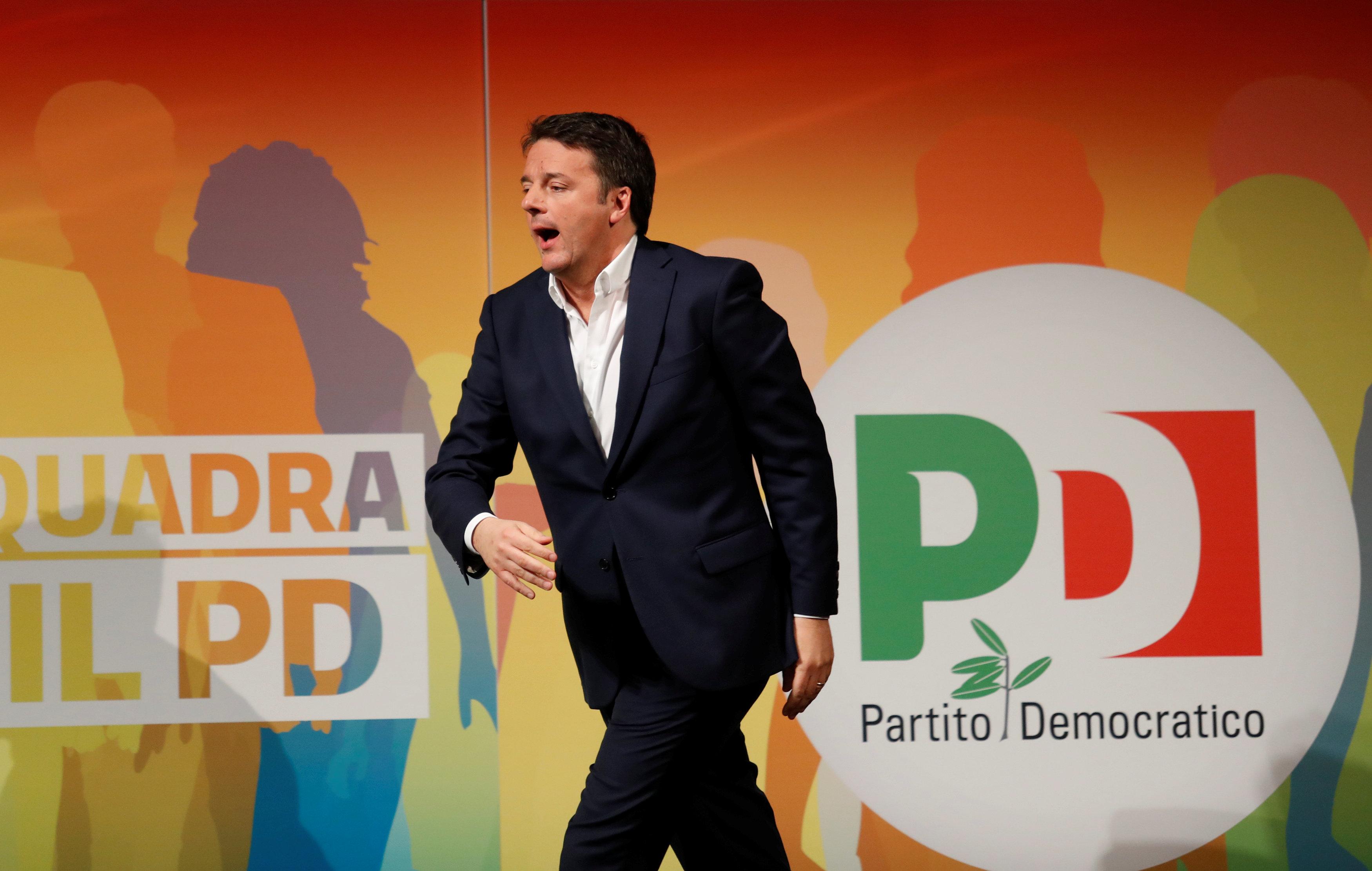 El Partido Democrático de Renzi se mantiene en el gobierno, pero tras los comicios del domingo seguramente tendrá que entregarlo a otra fuerza (AFP)