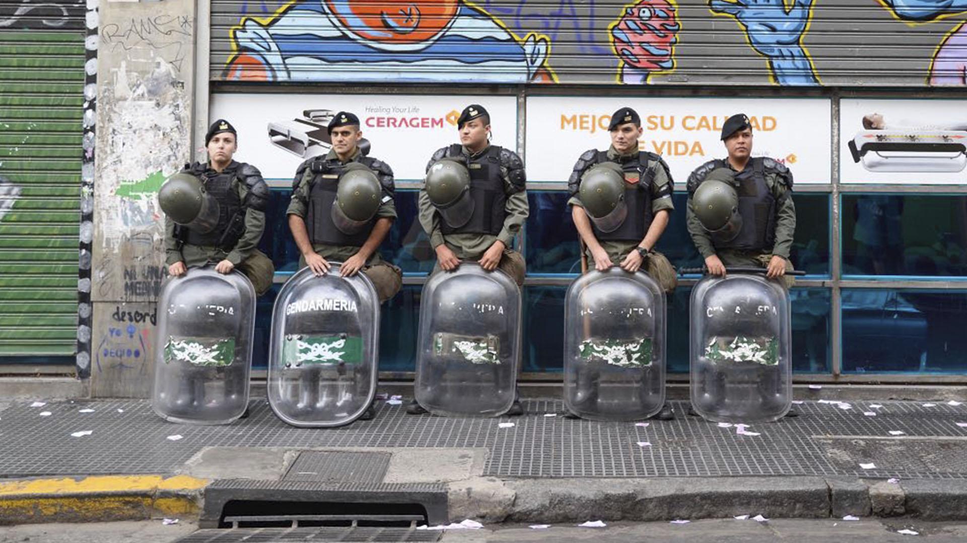 Gendarmes que participaron del operativo de seguridad