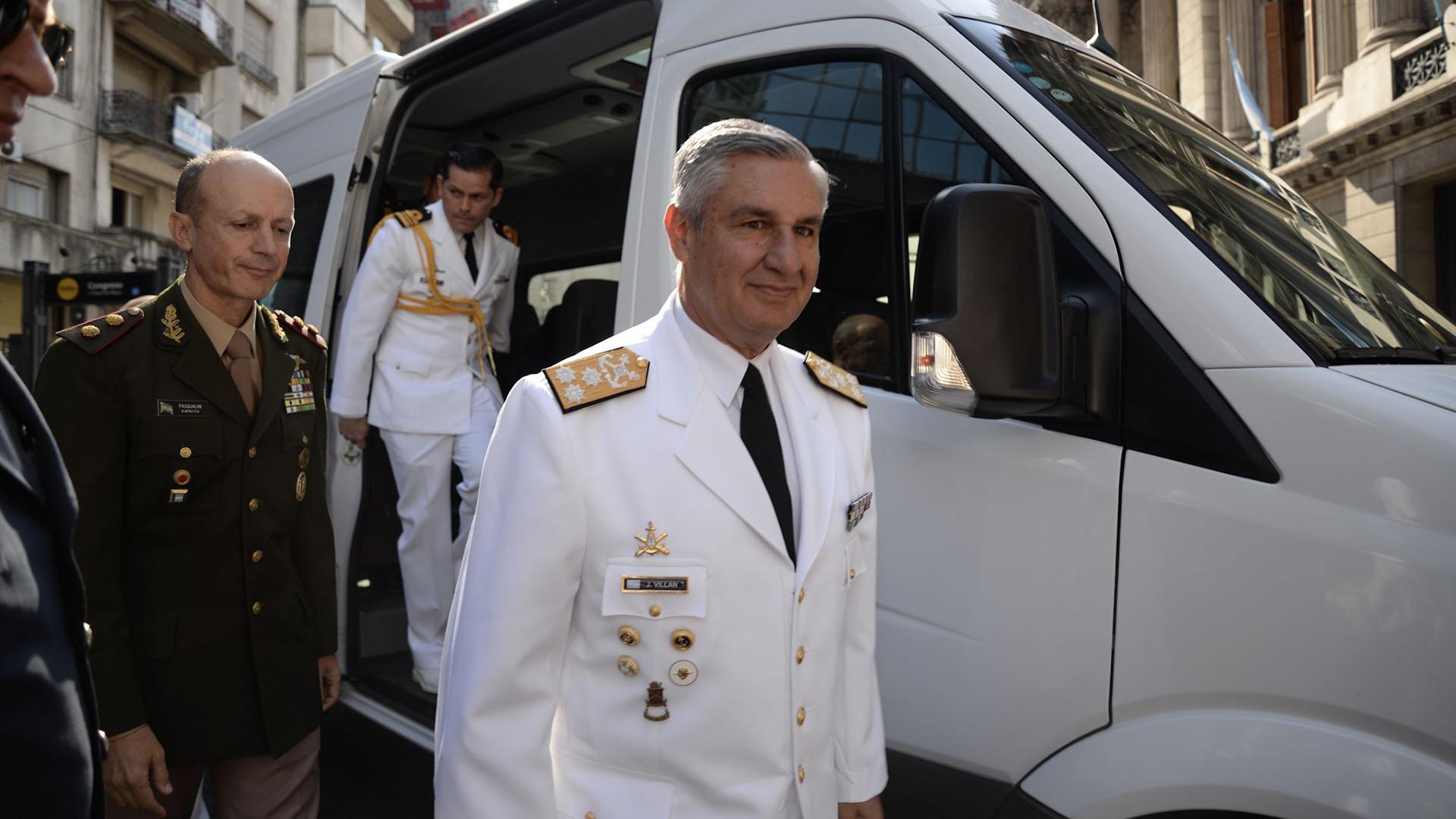 El jefe del Estado Mayor General de la Armada (interino) y Subjete del Estado Mayor Conjunto de las FFAA José Luis Villán