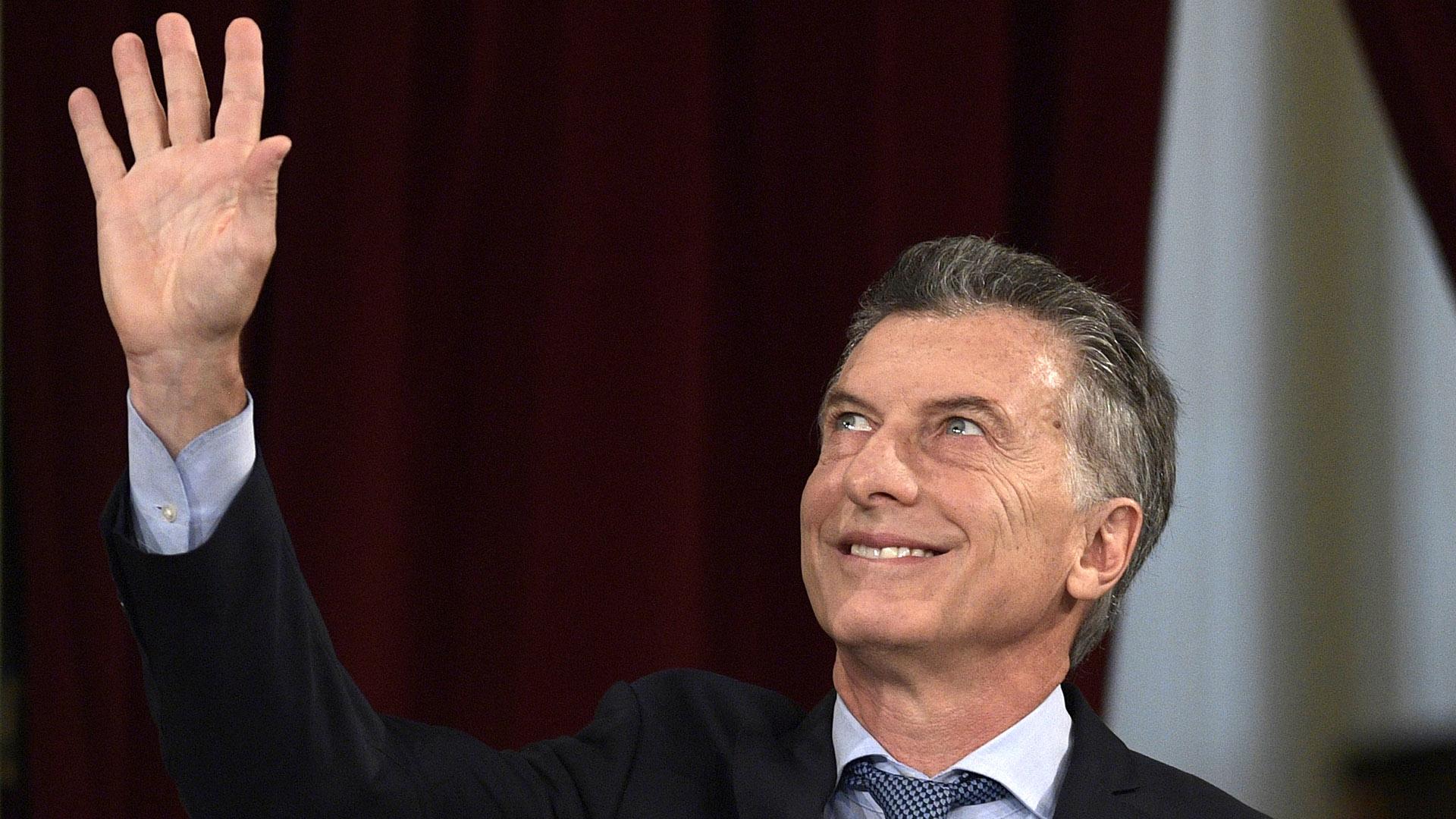 Mauricio Macri en la apertura de sesiones de 2018 (AFP)