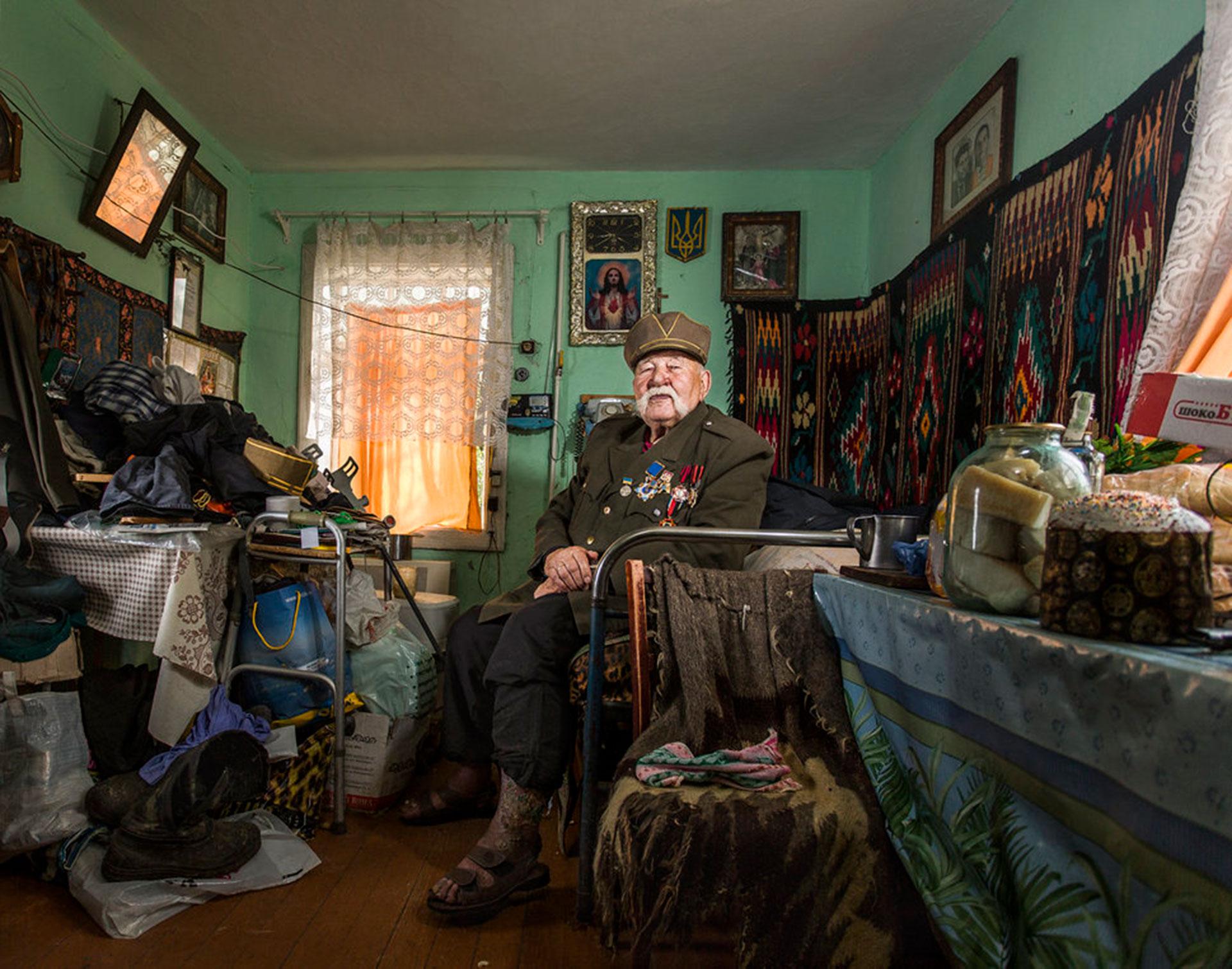 """Competencia """"Profesional"""" – Categoría """"Retratos"""":""""Veteranos"""" es una serie de retratos de personas que participaron en la Segunda Guerra Mundial. (Gentileza Sony World Photography Awards)"""