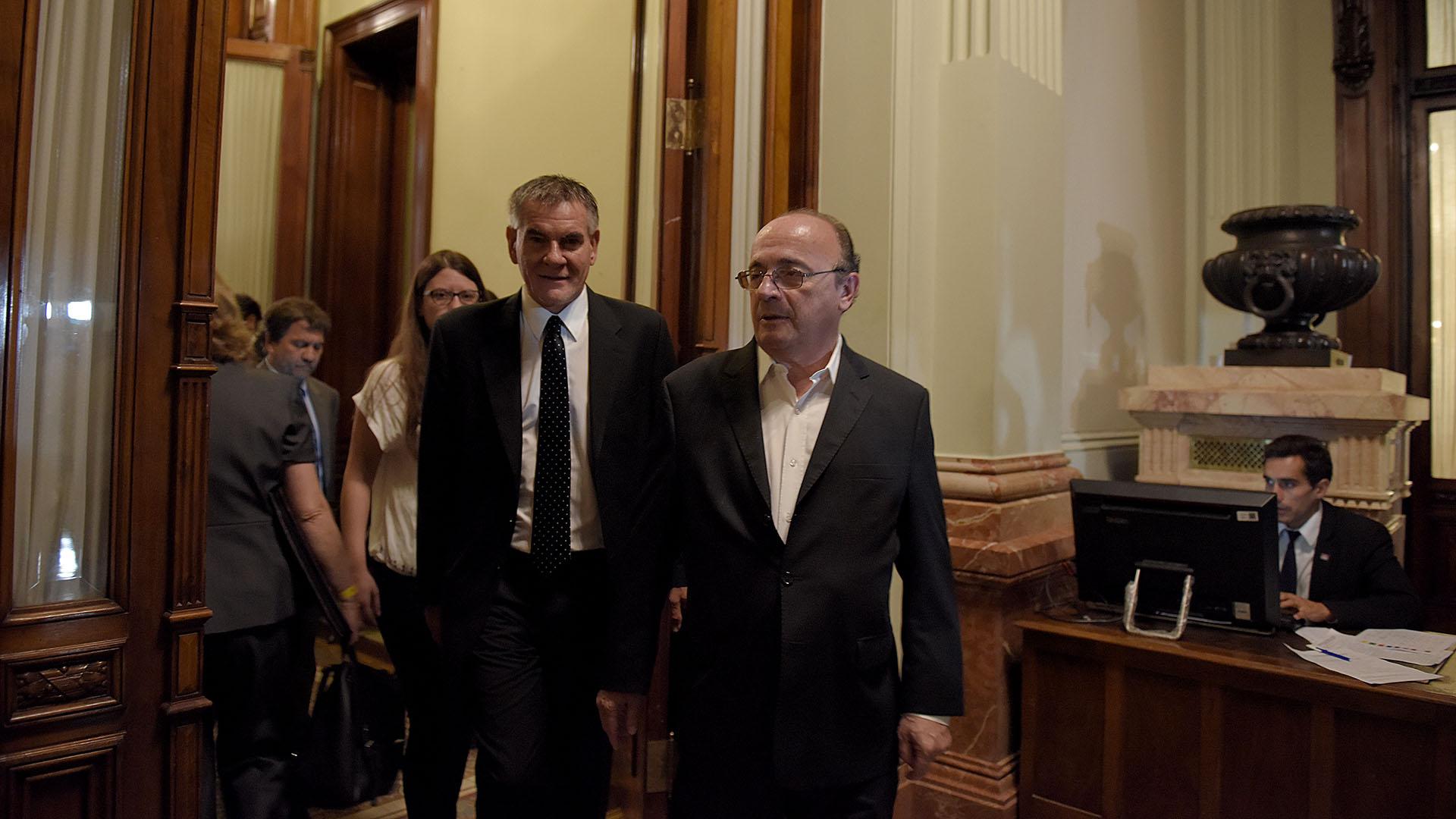 Los legisladores Carlos Castagneto y Leopoldo Moreau