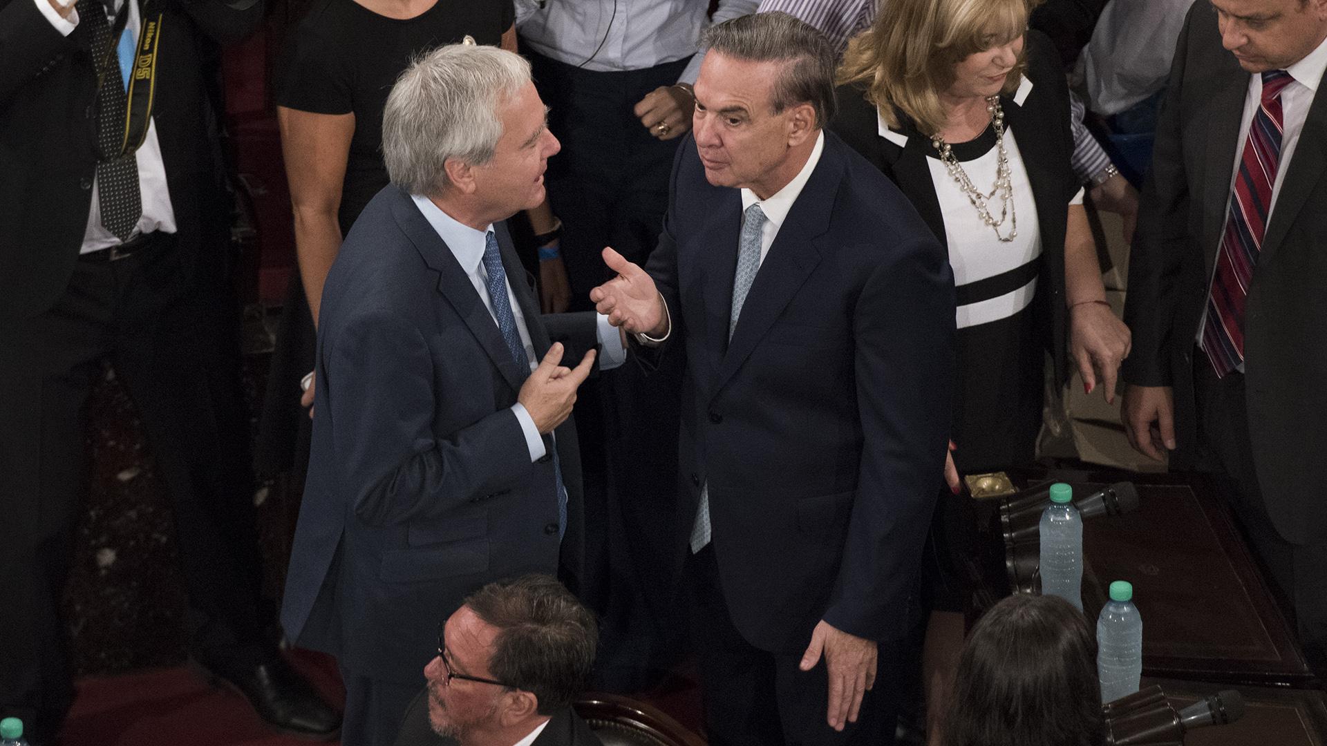 El diálogo de los referentes del oficialismo y del peronismo en el Senado