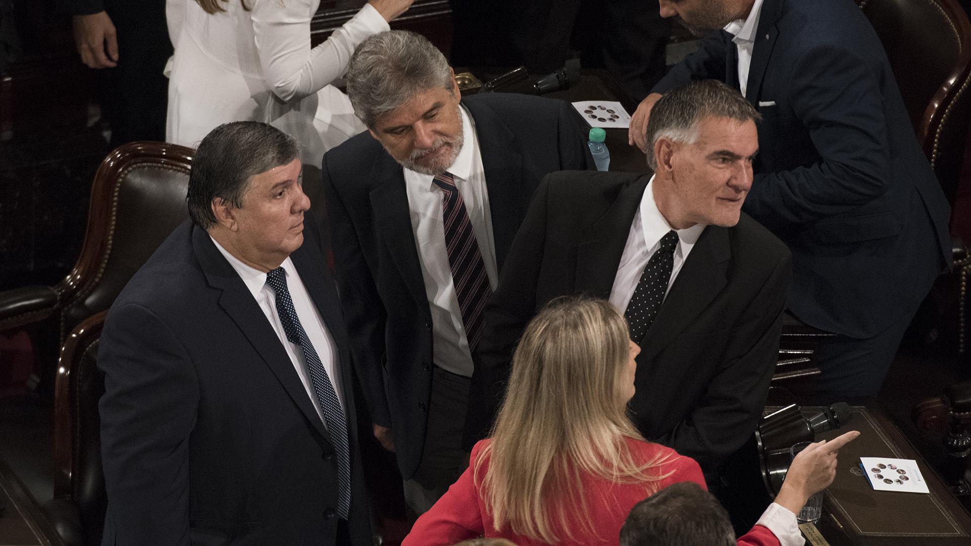 Daniel Filmus junto a otros legisladores del FpV