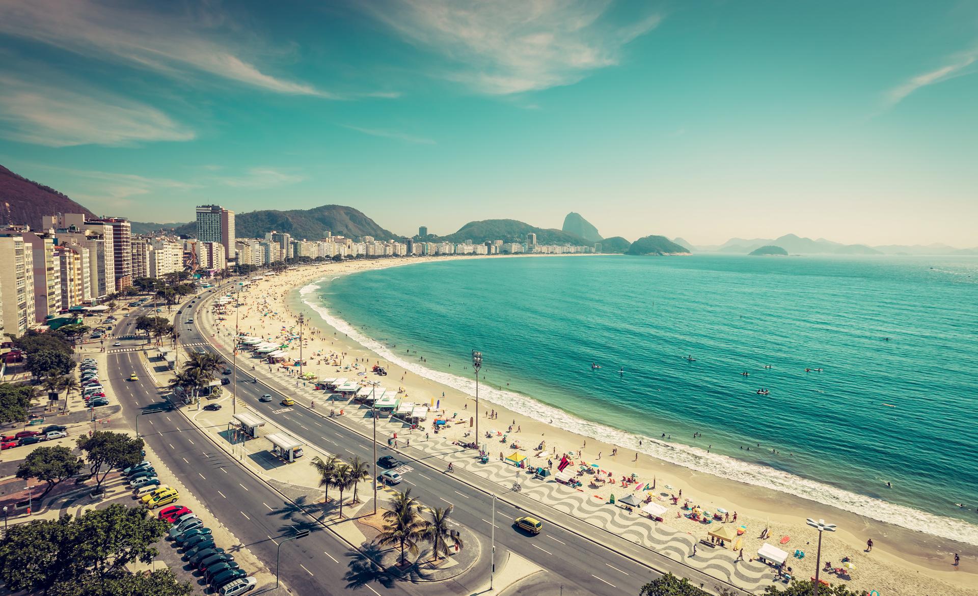 La playa de Copacabana, una de las más visitadas de Rio de Janeiro