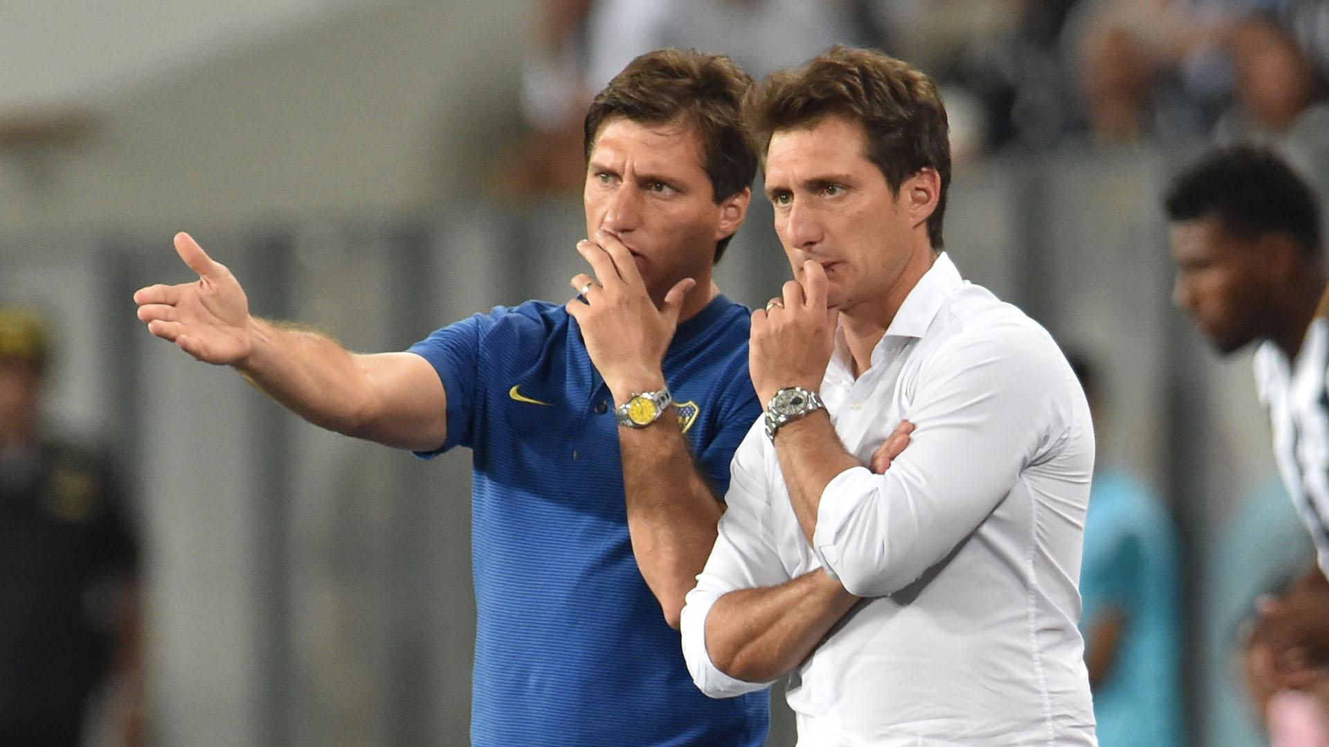 Gustavo y Guillermo Barros Schelotto (AFP)