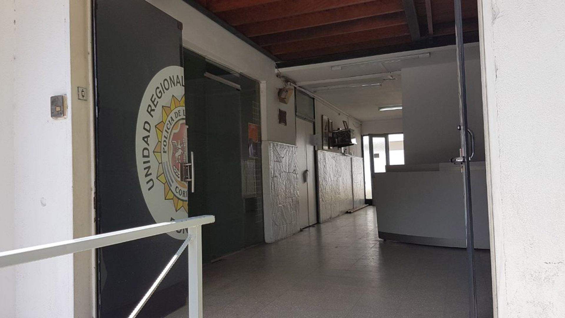 Esta es la comisaría donde está detenida Lanzoni (Fotos: Mario Sar / Teleshow)