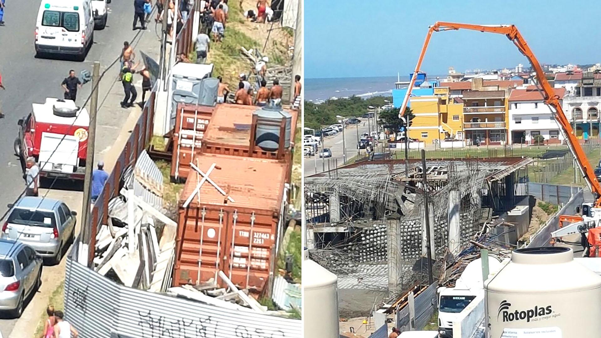 Resultado de imagen para Se derrumbó un centro cultural en construcción en Santa Teresita: seis muertos