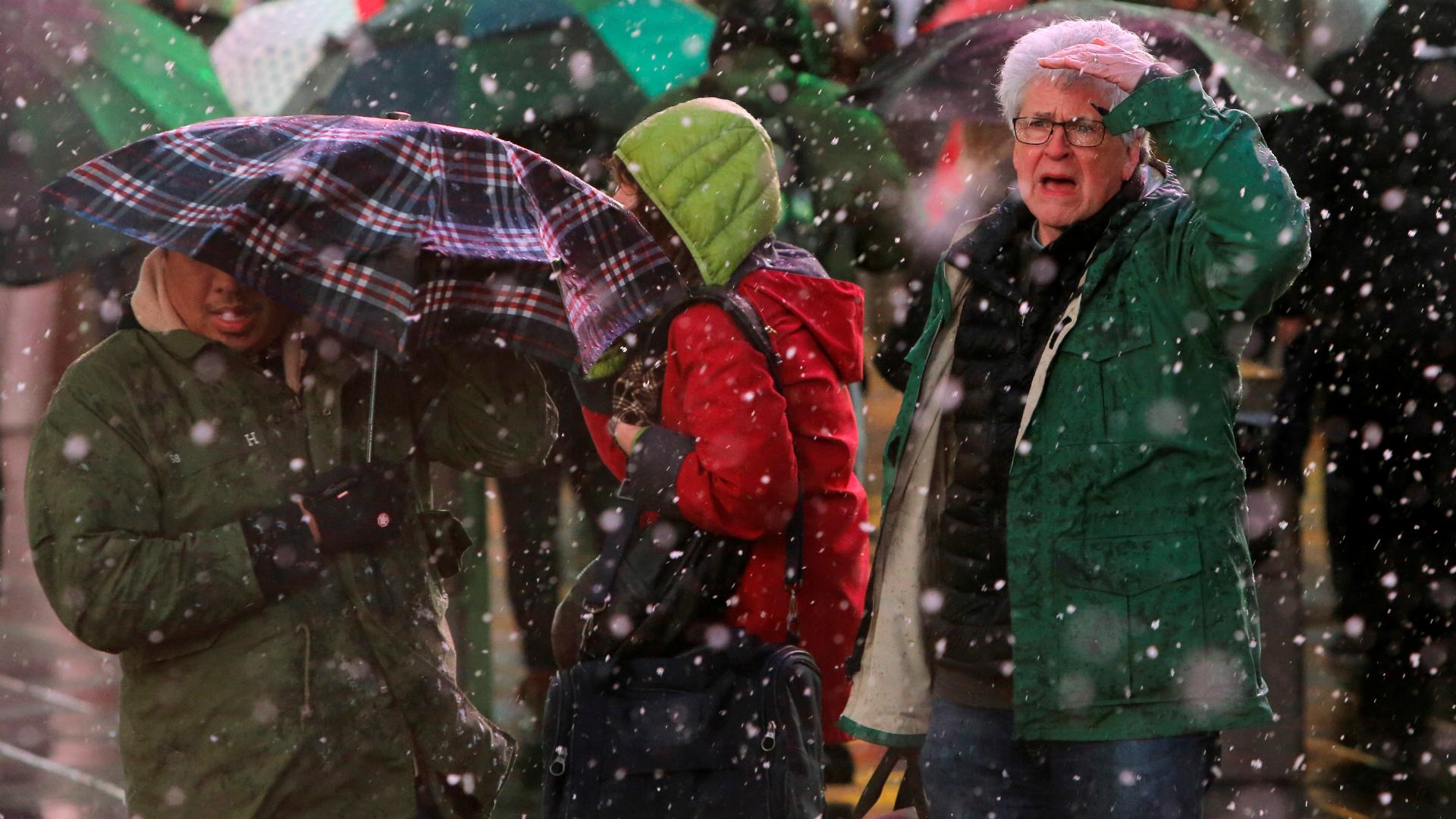 La tormenta se sintió con fuerza en la ciudad de Nueva York. (Reuters)
