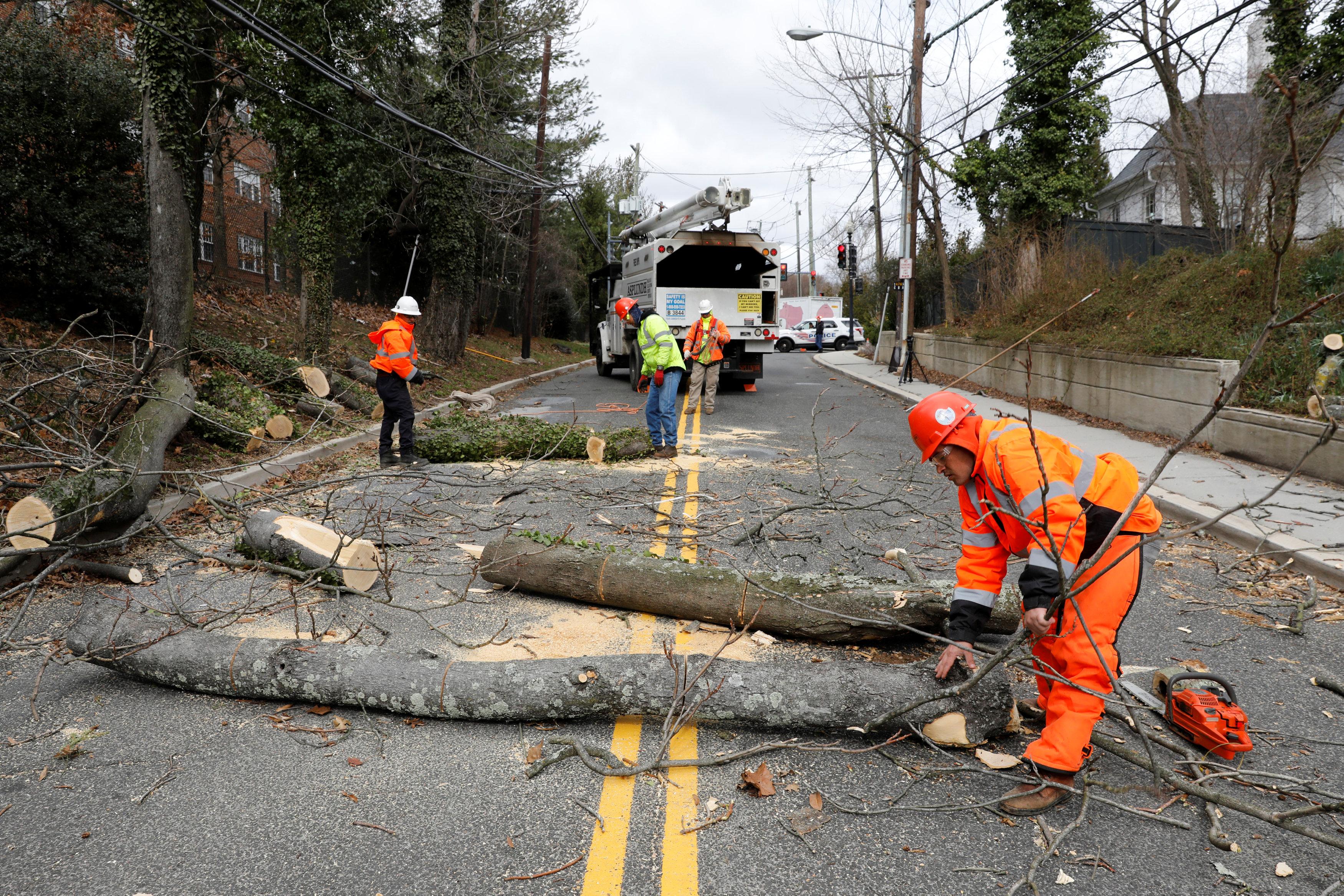 La tormenta causó estragos en Washington D.C. REUTERS/Yuri Gripas