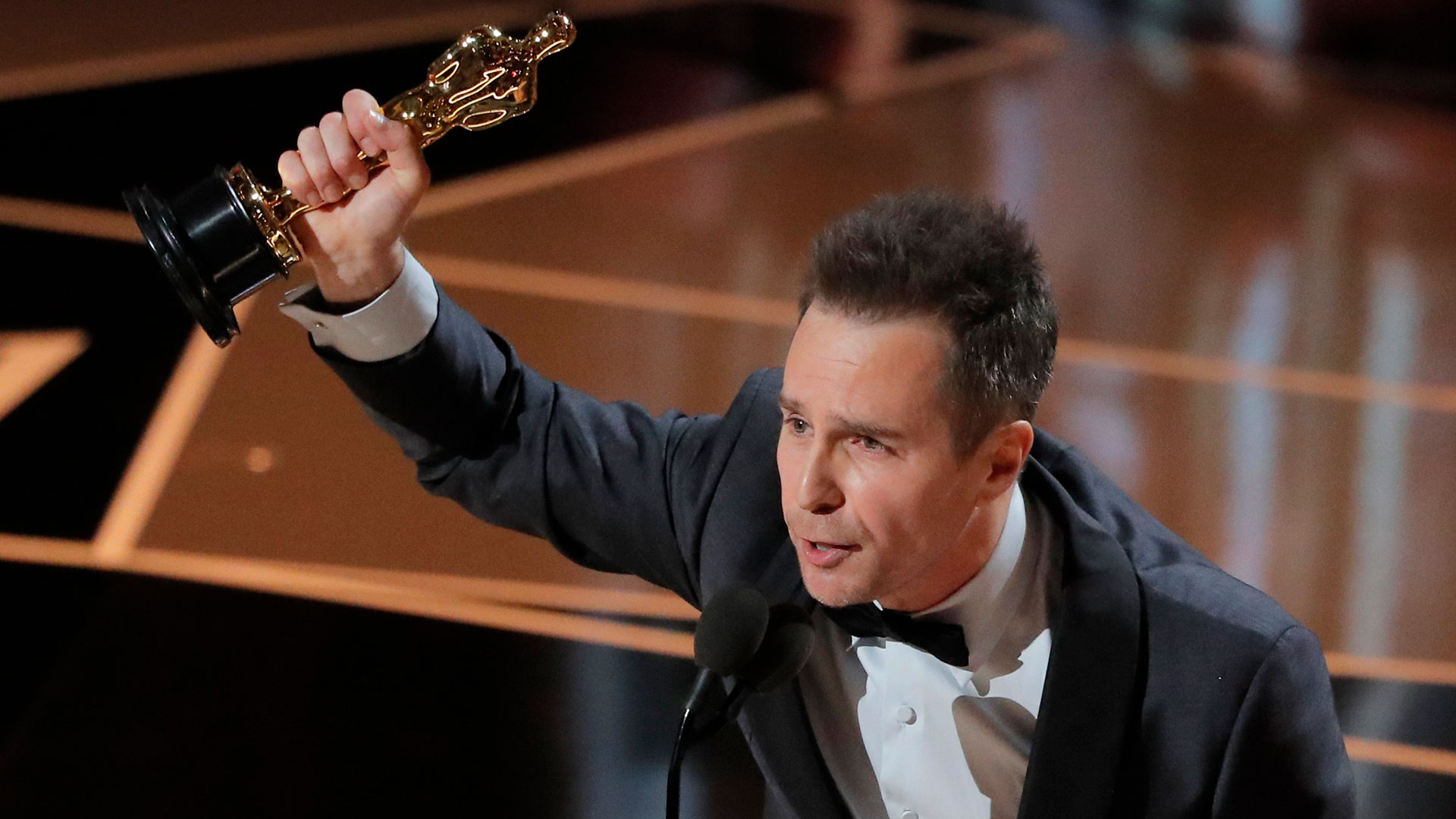 Sam Rockwell, ganador al Mejor Actor de Reparto (Reuters)