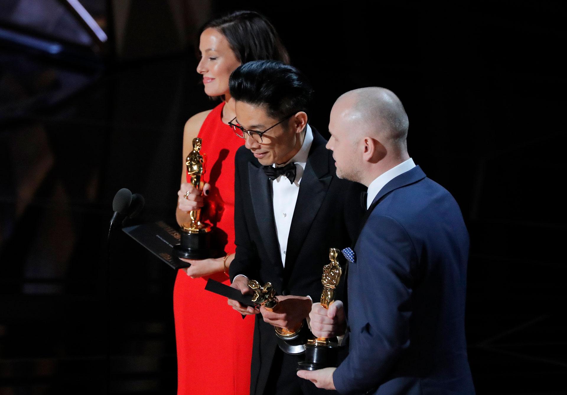 Kasuhiro Tsuji, David Molinowski y Lucy Sibbick, ganadores a Mejor Maquillaje y Peinado