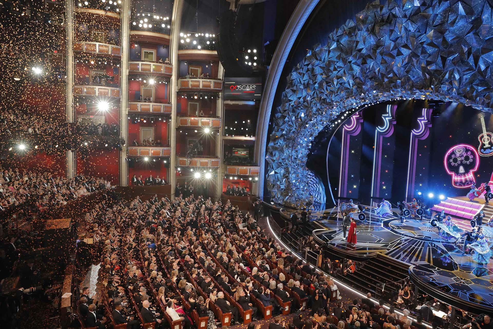 Otra toma del imponente Dolby Theatre de Los Ángeles