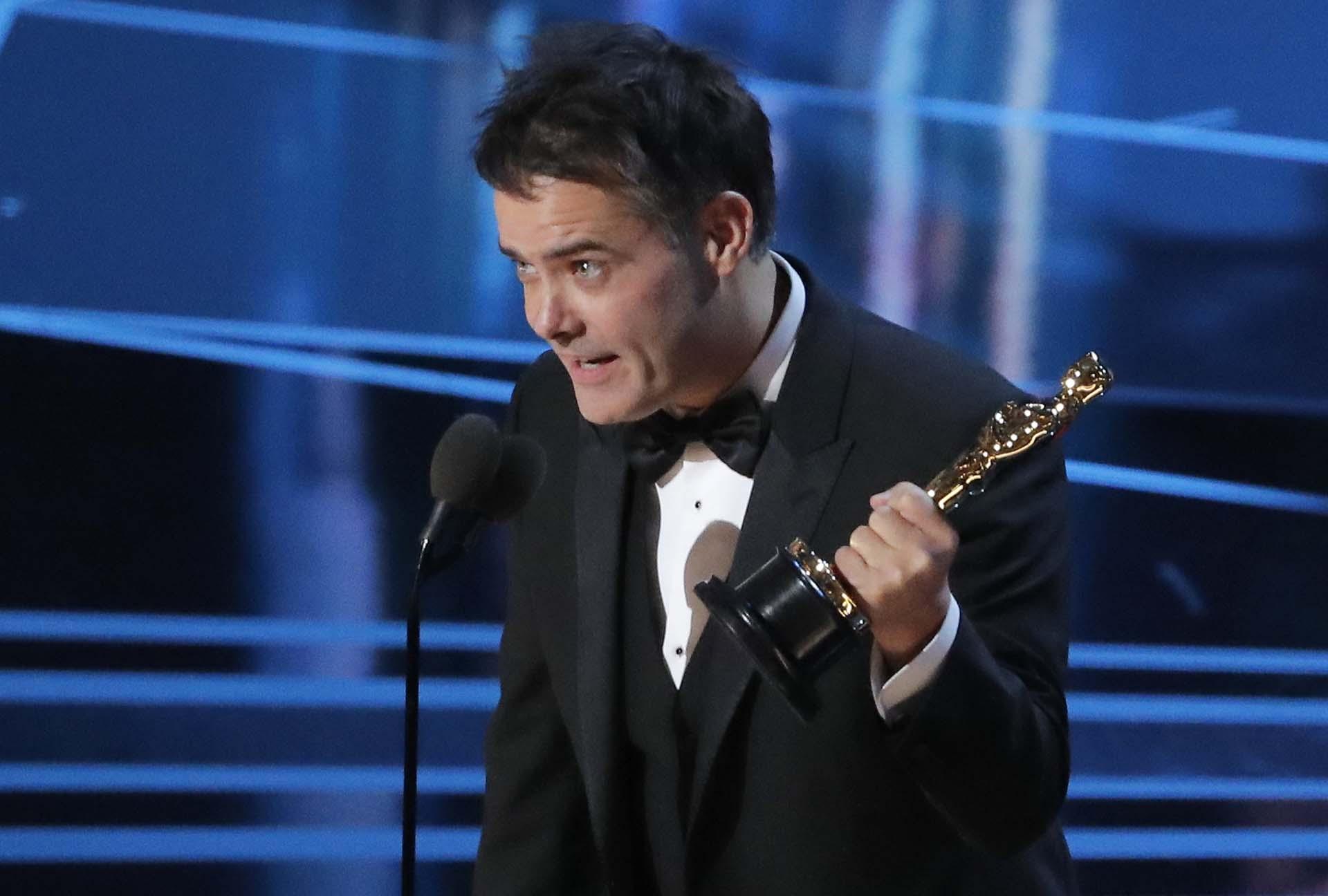 """El director Sebastian Lelio agradece el Oscar a Mejor película extranjera por """"Una mujer fantástica"""""""