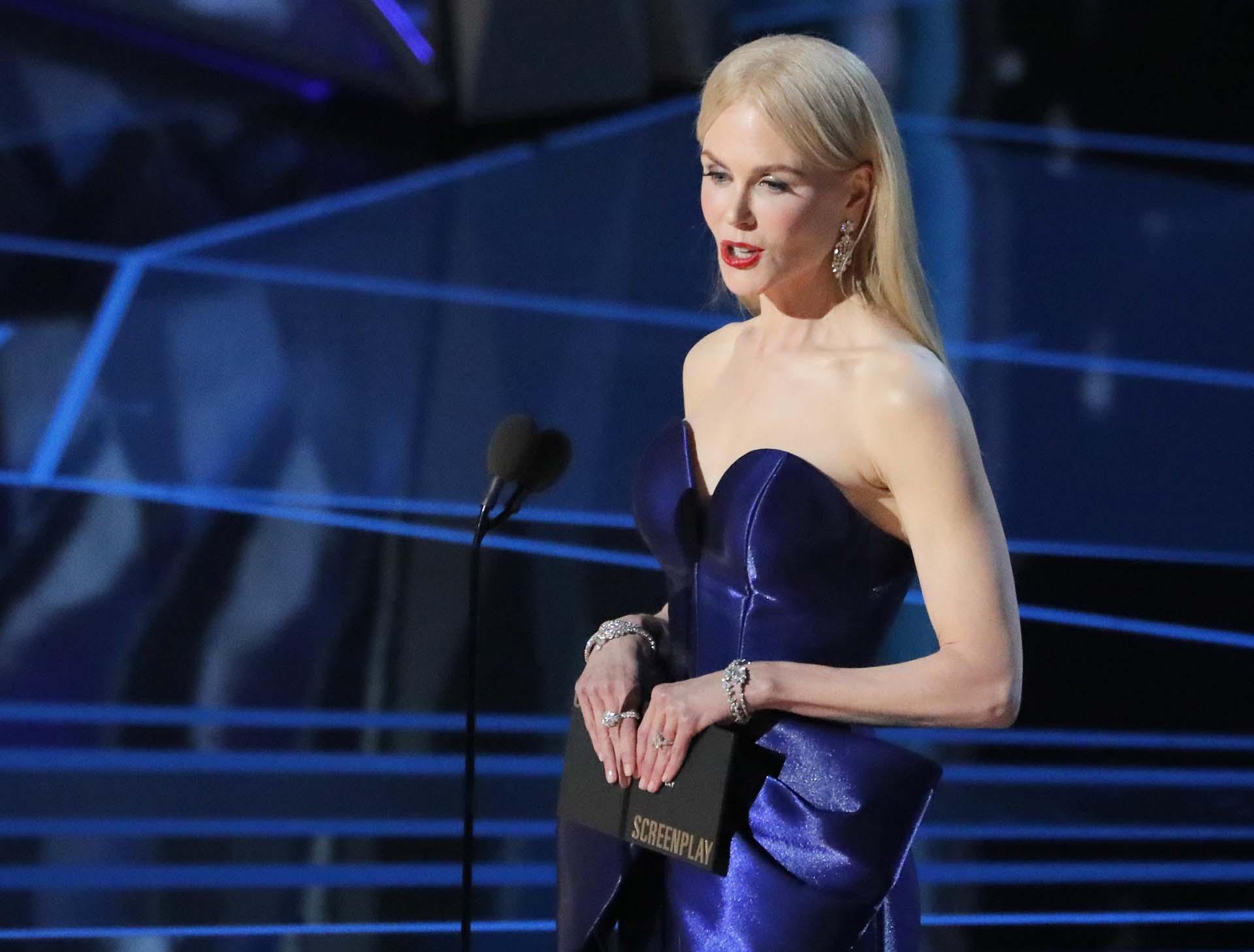 Nicole Kidman también fue invitada a presentar una de las categorías de los Oscar