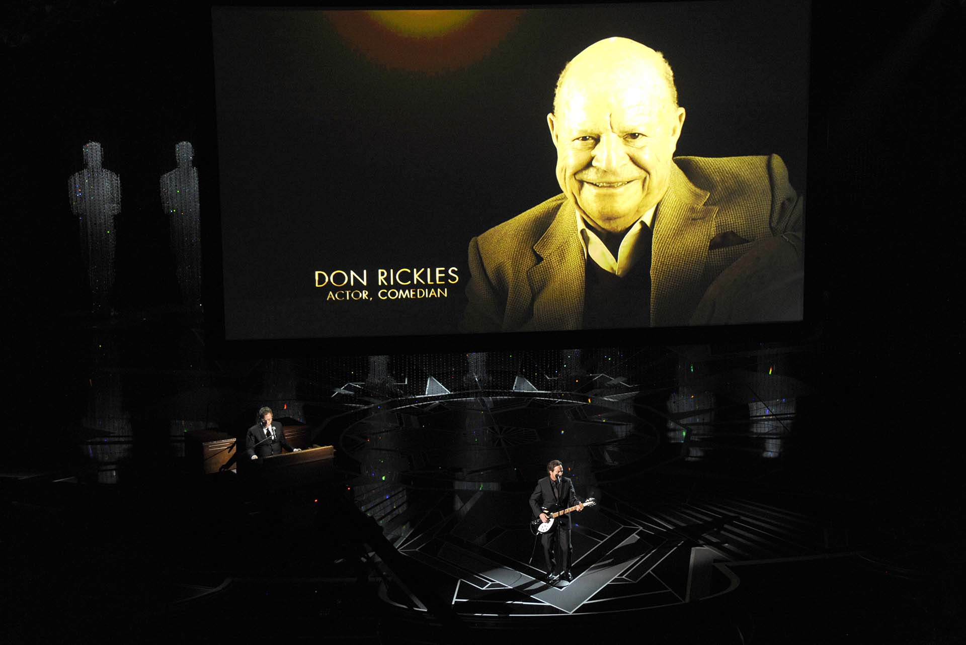 Don Rickles en el emotivo video en memoria a los artistas que ya no están (Invision/AP)