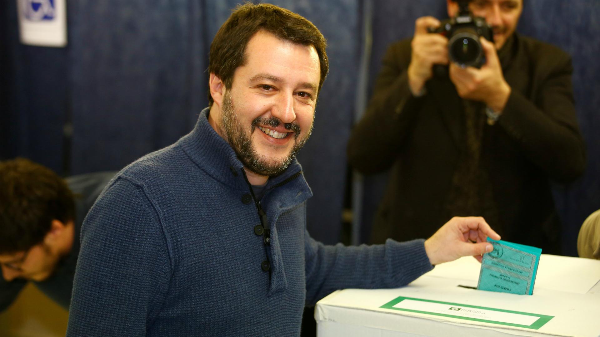 Matteo Salvini, el líder de la Liga Norte que intentará ser primer ministro de Italia