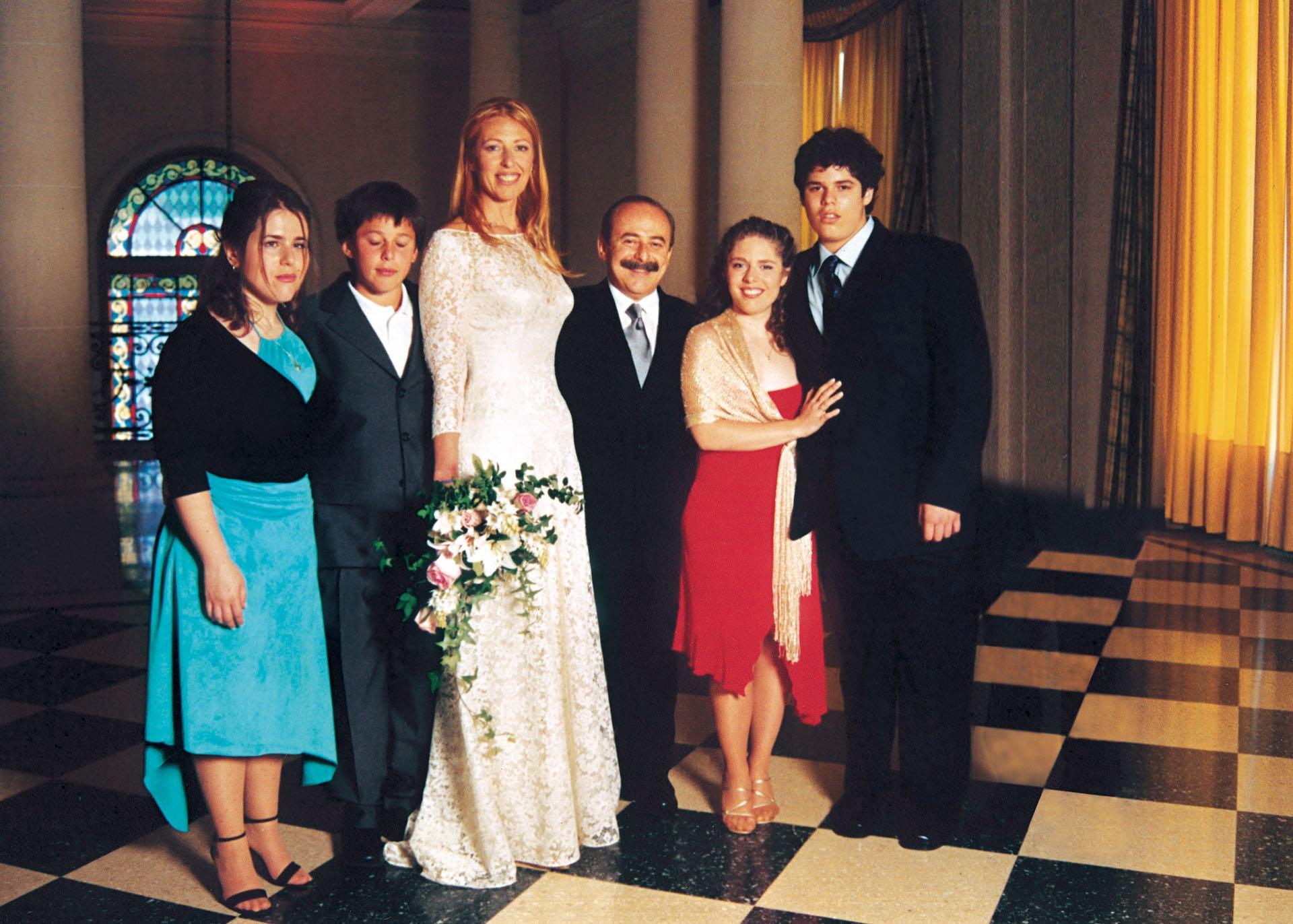 Despuésde quince años de convivencia, en 2001 finalmente se casaron. Un sueño cumplido. (Foto Archivo GENTE)