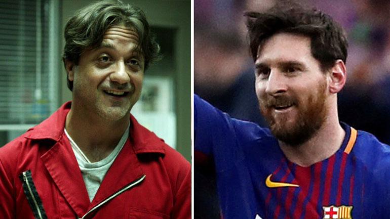 """Enrique Arce, el personaje que encarna a Arturito en """"La Casa de Papel"""", se identificó como fanático de Messi"""