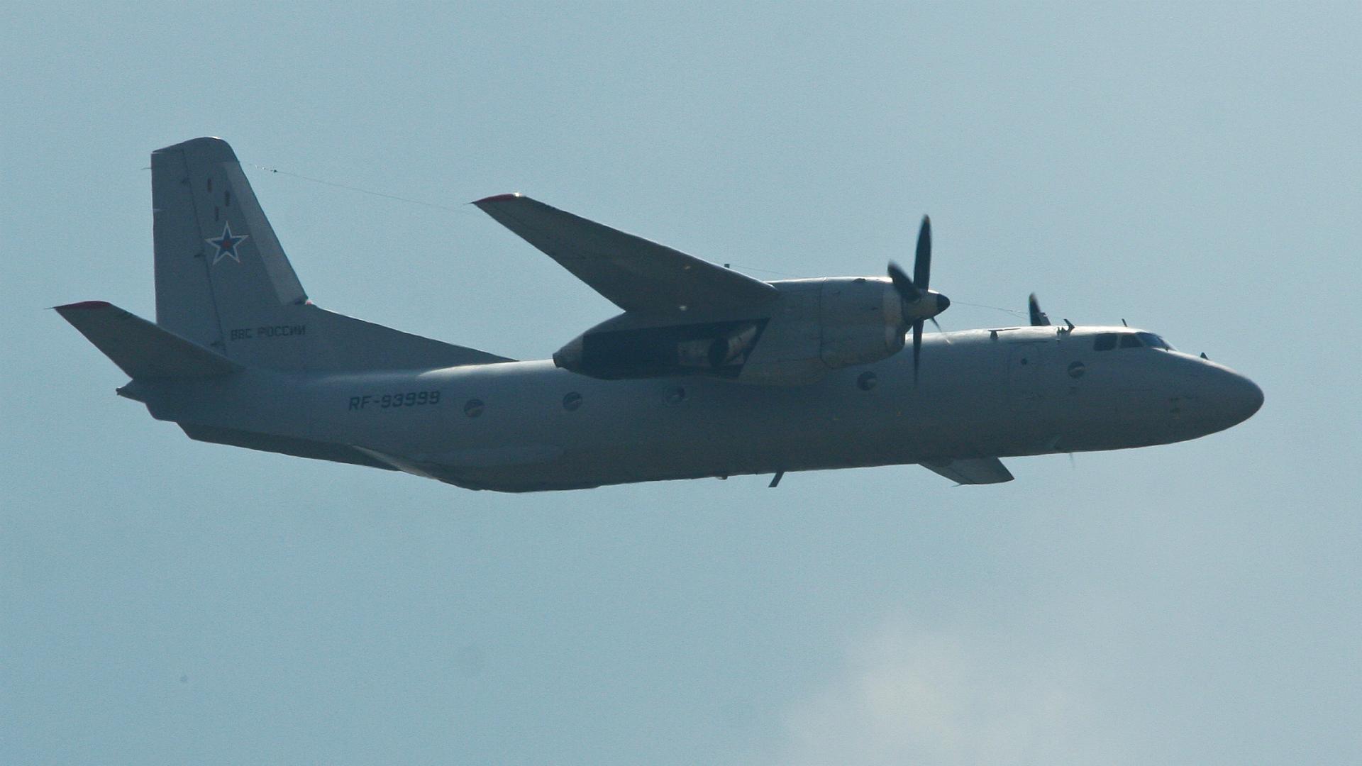 Un Antonov An-26 como el que cayó