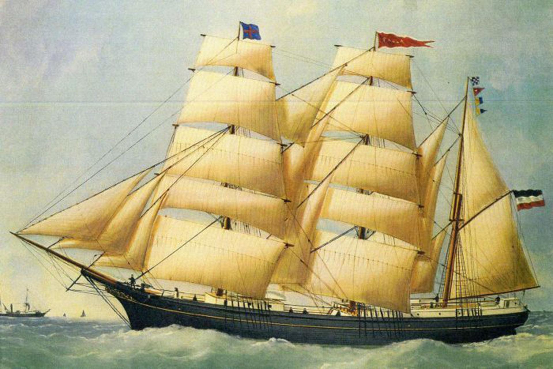 """""""Increíblemente había una entrada del 12 de junio de 1886 en el que el capitán registraba que se había arrojado una botella por la borda"""", explicó Anderson"""
