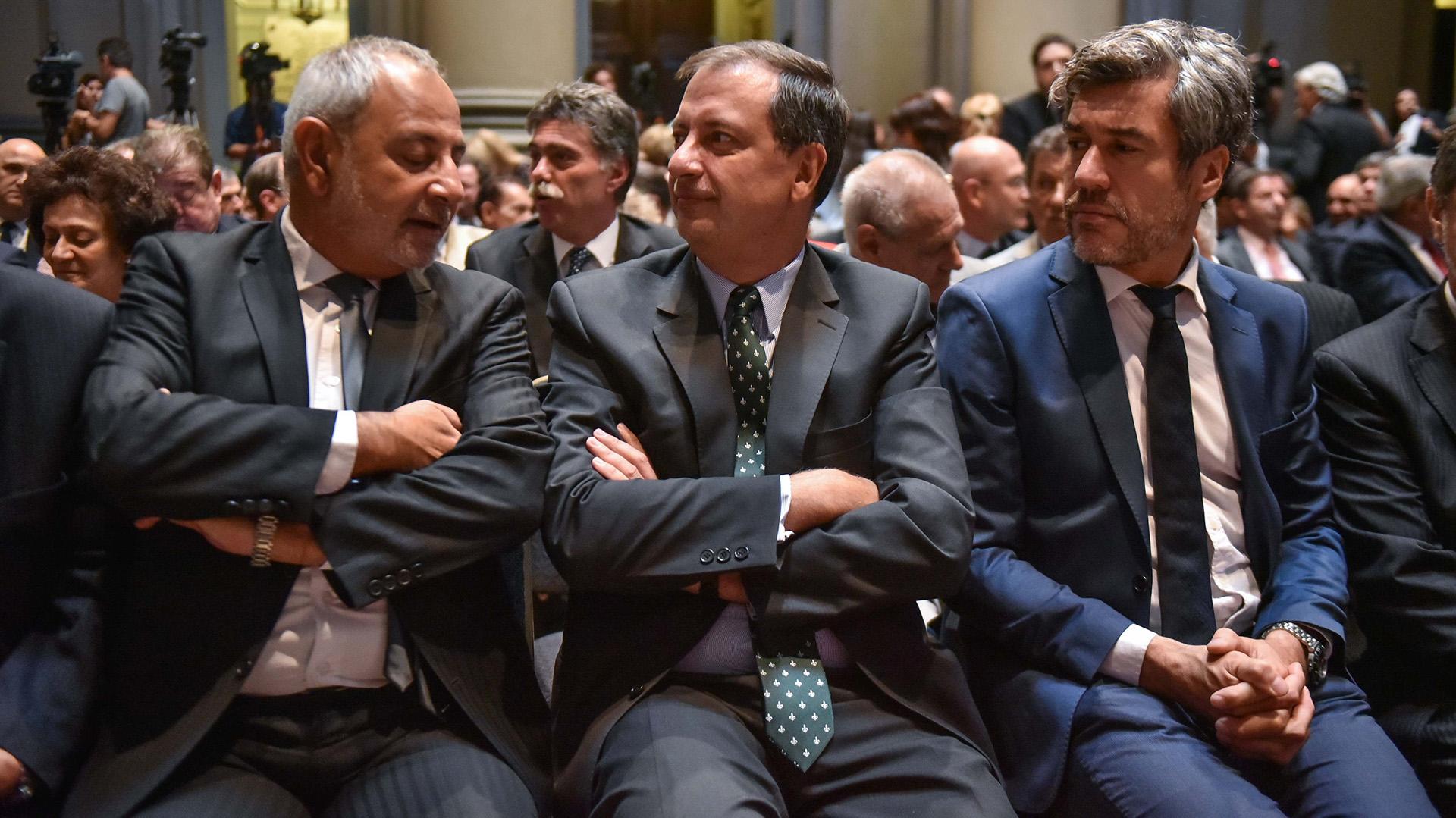 Los jueces Daniel Morín, Eugenio Sarrabayrouse y Horacio Días