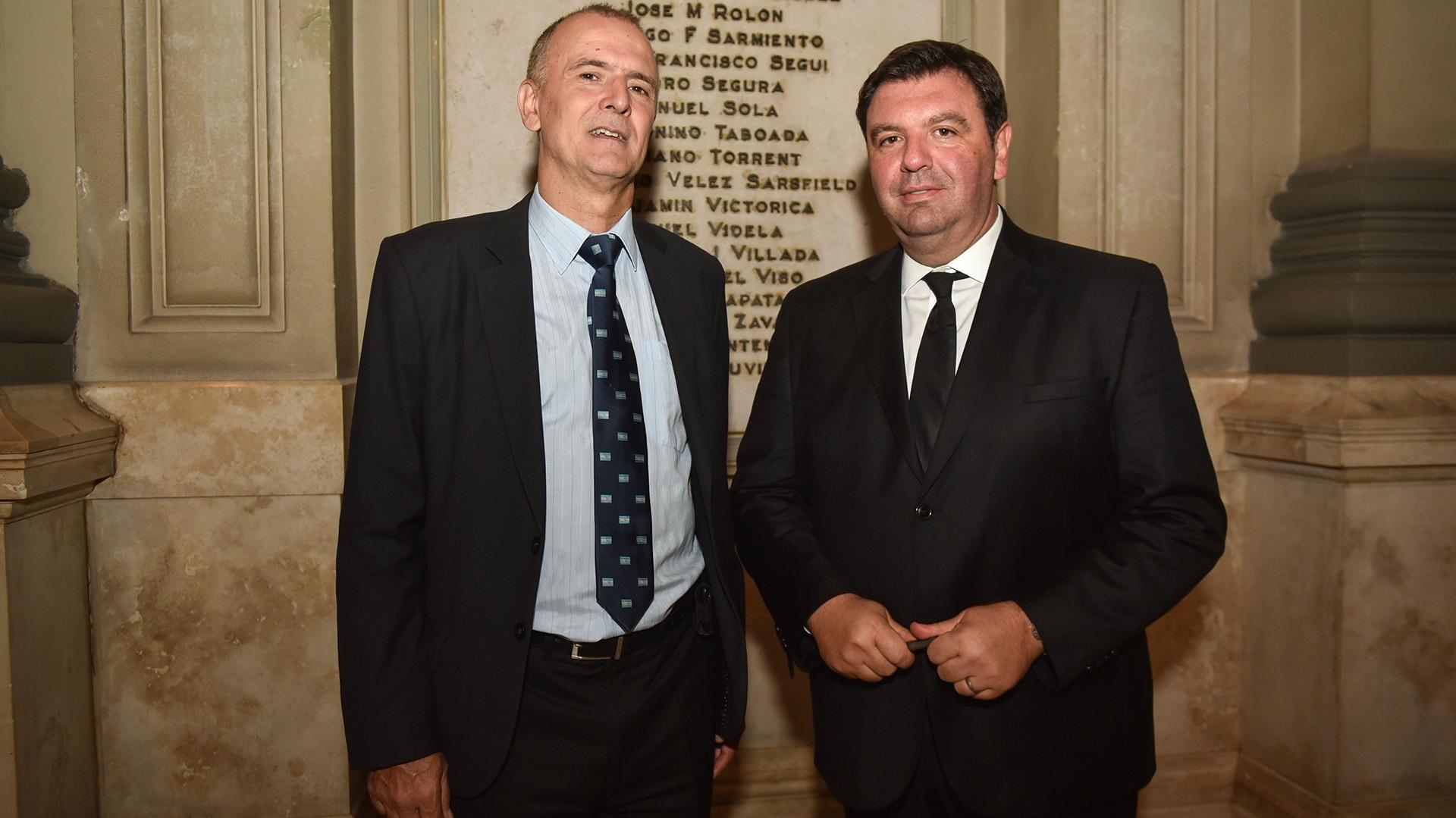 El periodista Daniel Santoro y el juez Ariel Lijo