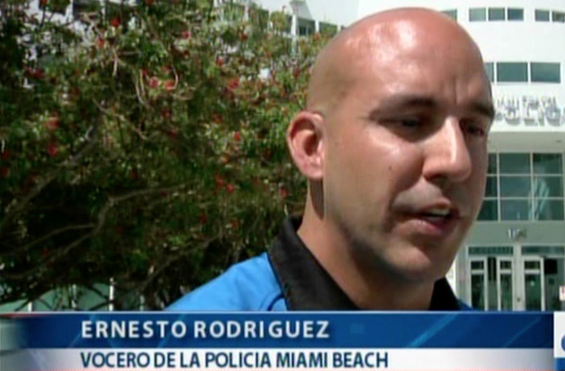 Ernesto Rodríguez, vocero de @MiamiBeachPD