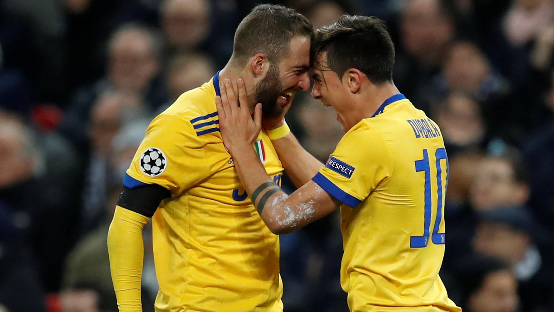 Higuaín y Dybala, las cartas de gol de la Juventus (REUTERS)