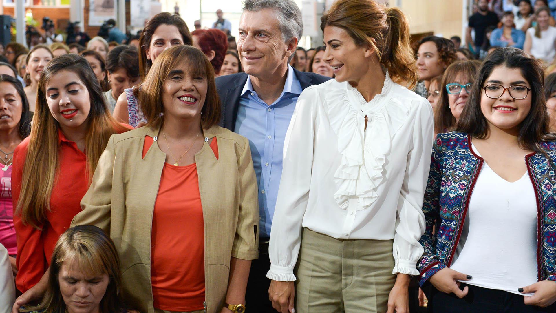 Mauricio Macri durante el acto por el Día de la Mujer