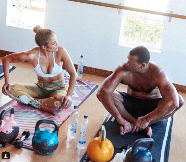 Jennifer Lopez y su novio el beisbolista Alex Rodriguez entrenan juntos y se motivan mutuamente. (Instagram: Jennifer Lopez)
