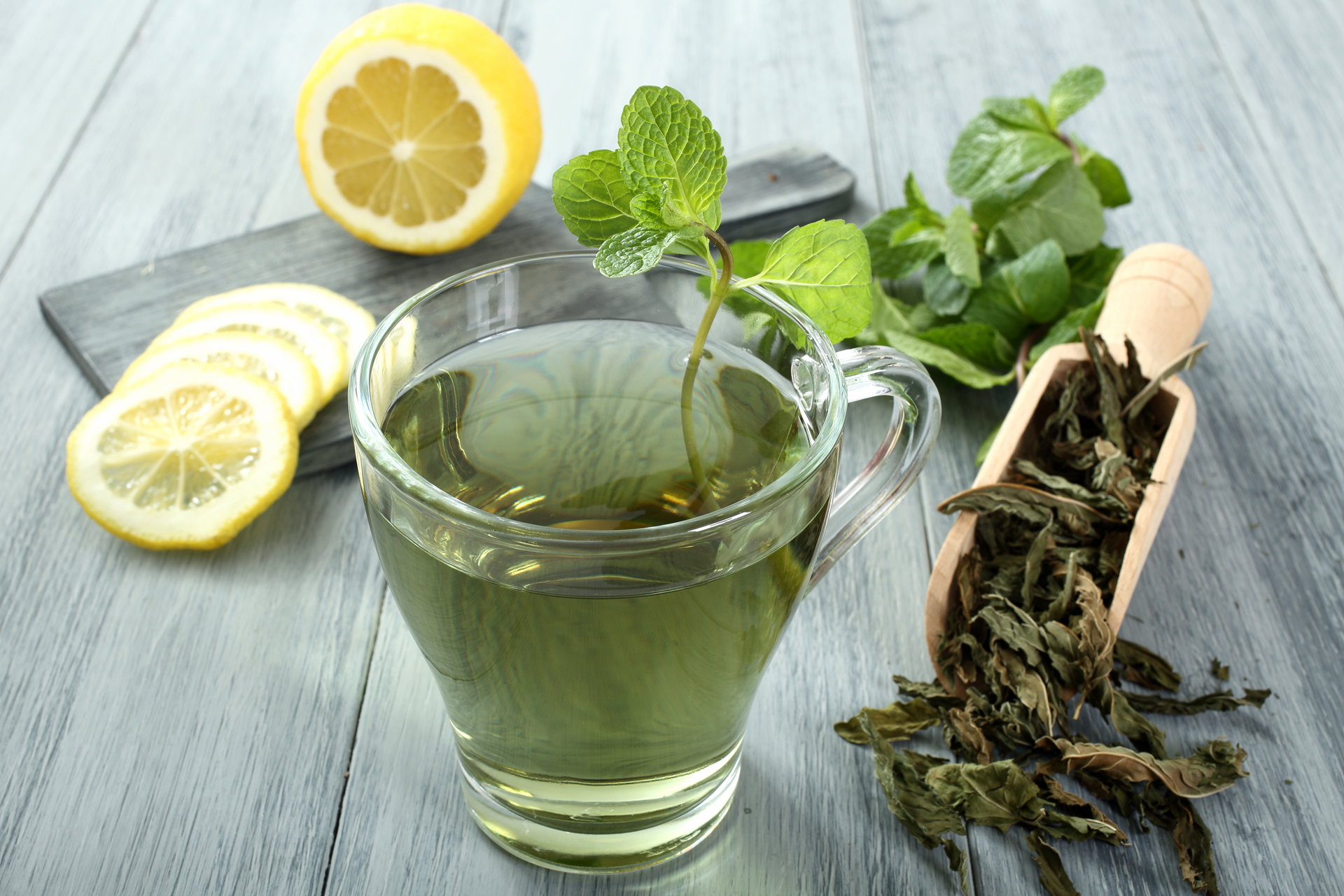 Se debe hacer hincapié en una correcta hidratación diaria: agua pura, infusiones como el té verde y limonadas caseras (Getty Images)