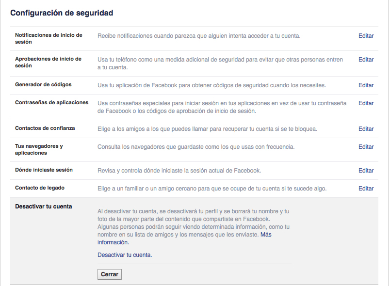 Cuando un usuario quiere dejar Facebook, la primera opción que encuentra no es borrar su cuenta para siempre sino desactivarla.