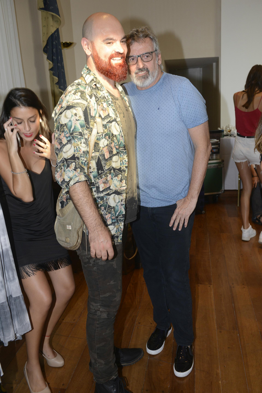 Fenito Fernández junto a su novio Zeus. (Foto/GENTE)