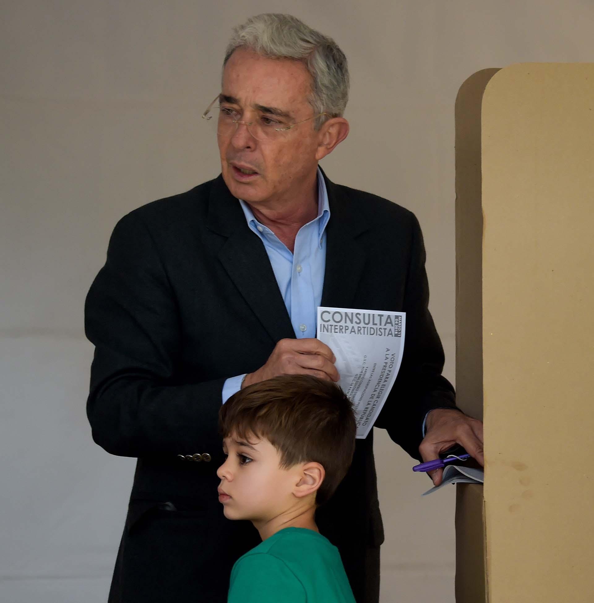 Uribe aseguró que aspira a una Colombia sin narcotráfico (AFP)