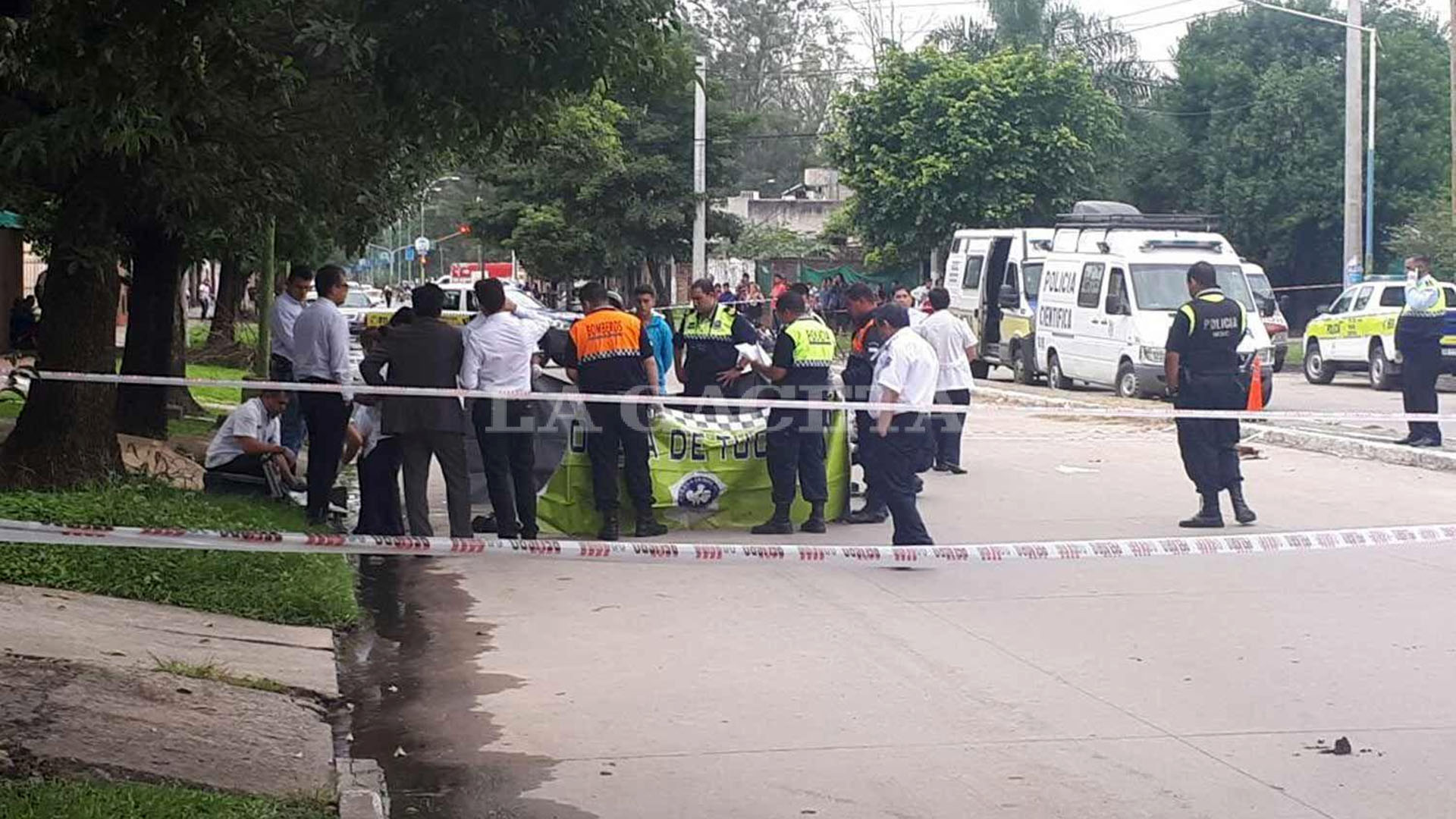Andrés Ledesma murió cerca del parque 9 de Julio