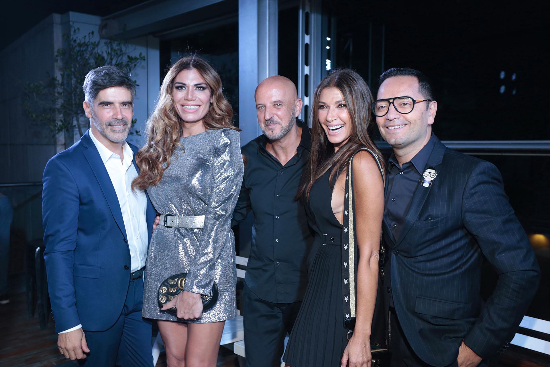 Charly Fonseca, Flor de la V, Fabián Zitta, Cathy Fulop y Fabián Medina Flores