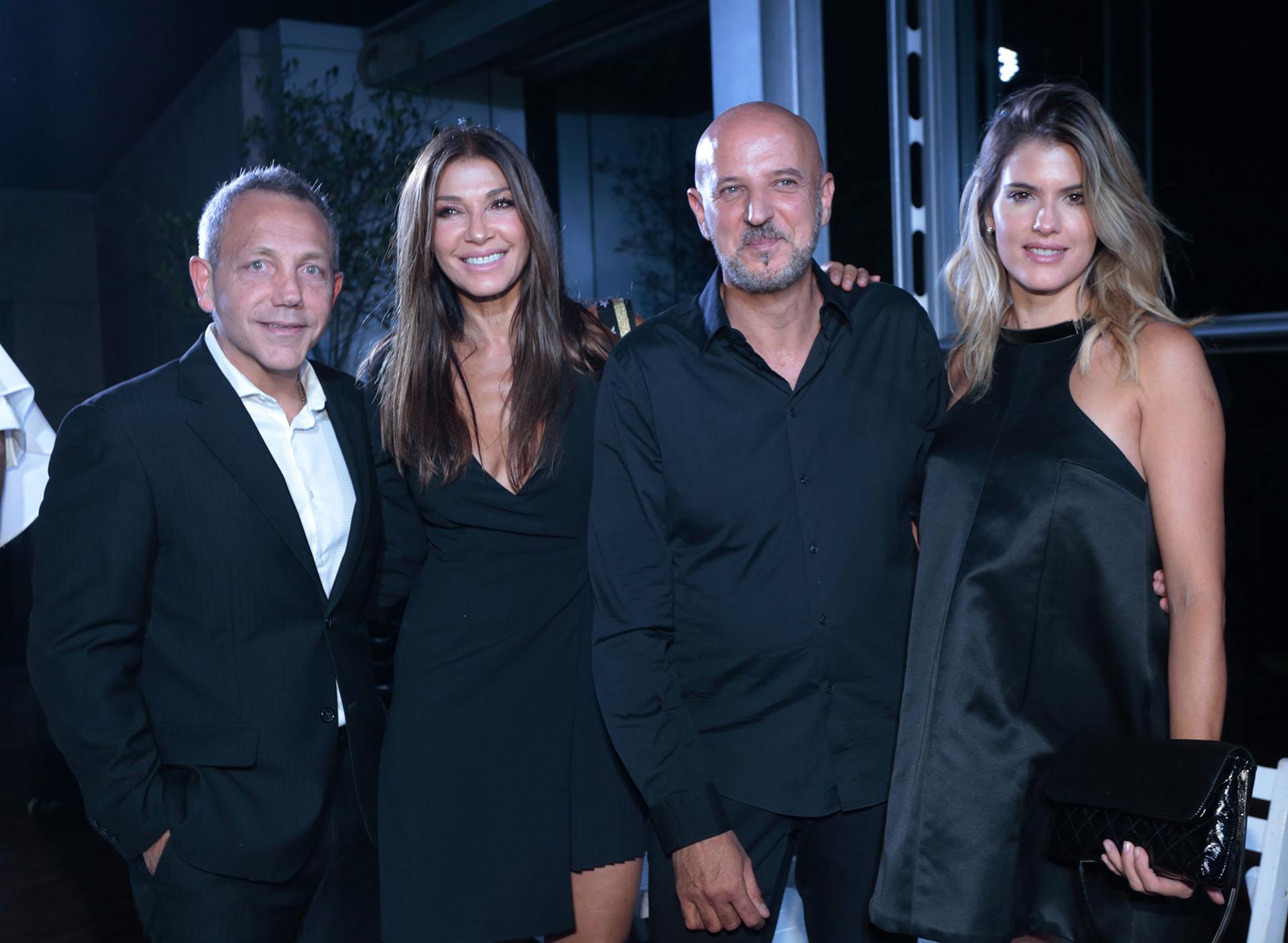 El organizador Guillermo Azar, Cathy Fulop, el diseñador Fabián Zitta y Mery del Cerro