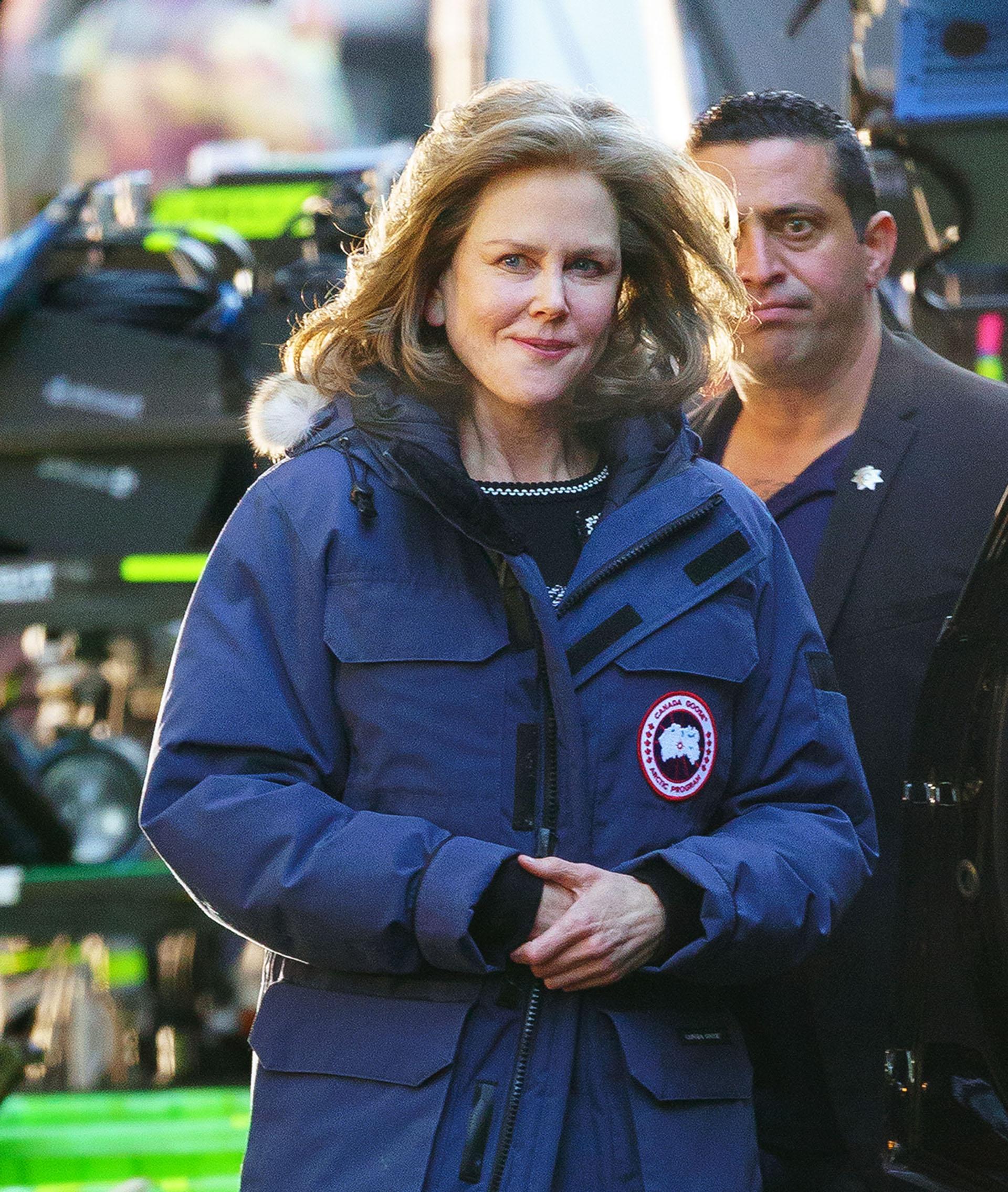 "Nicole Kidman en el set de ""The Goldfinch"" en New York City (Grosby Group)"