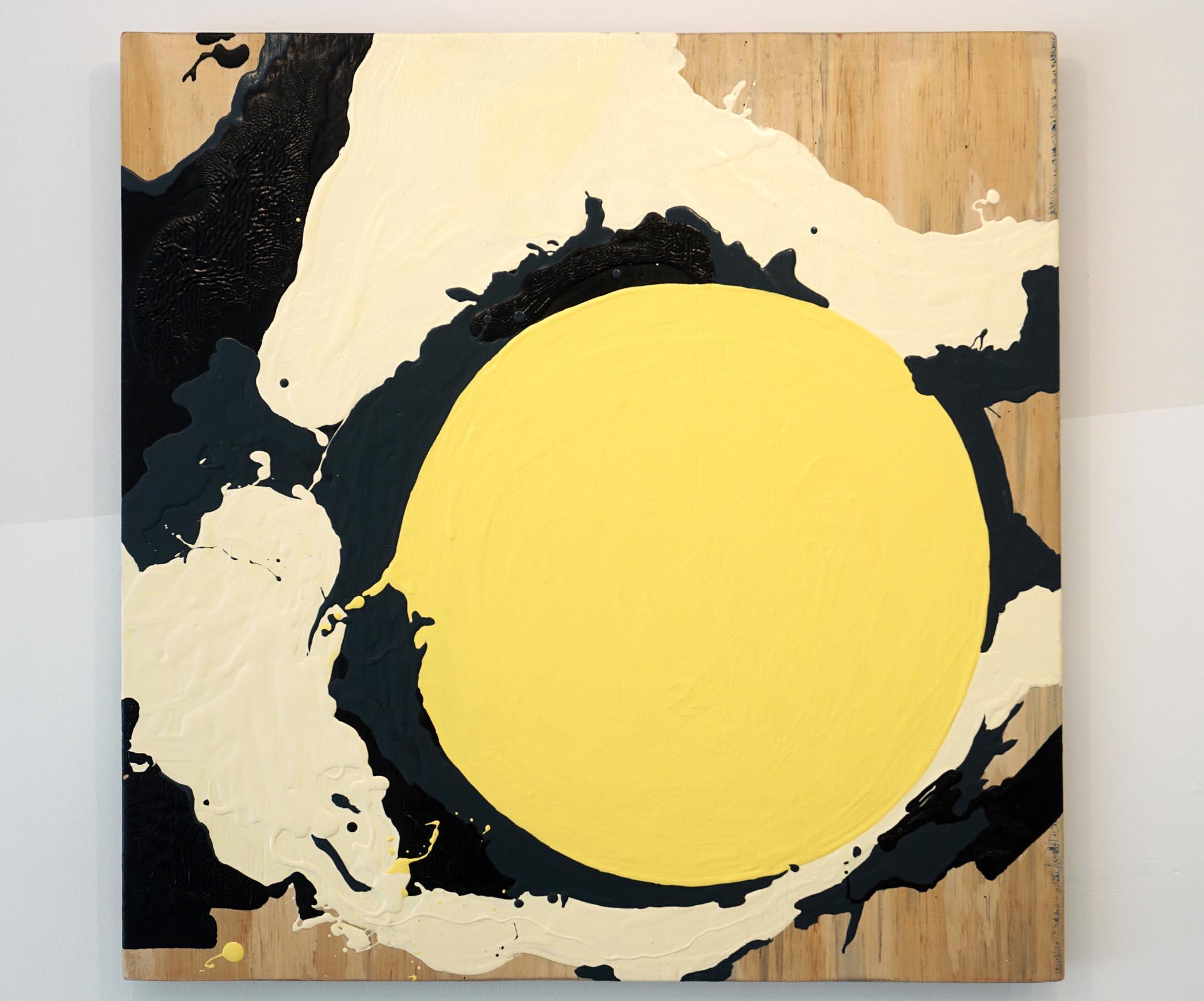 """""""Eclipse de yema de huevo con bocha de crema de vainilla"""", de Guido Ignatti"""