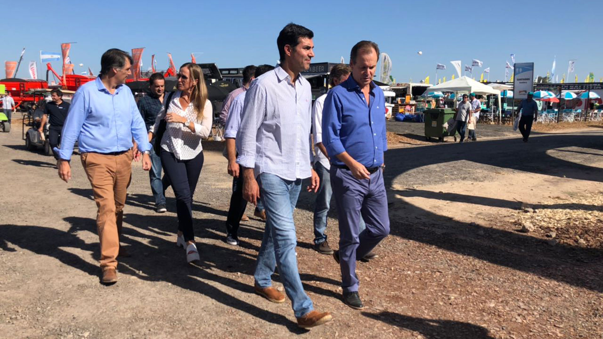 Los gobernadores peronistas visitaron juntos la exposición rural