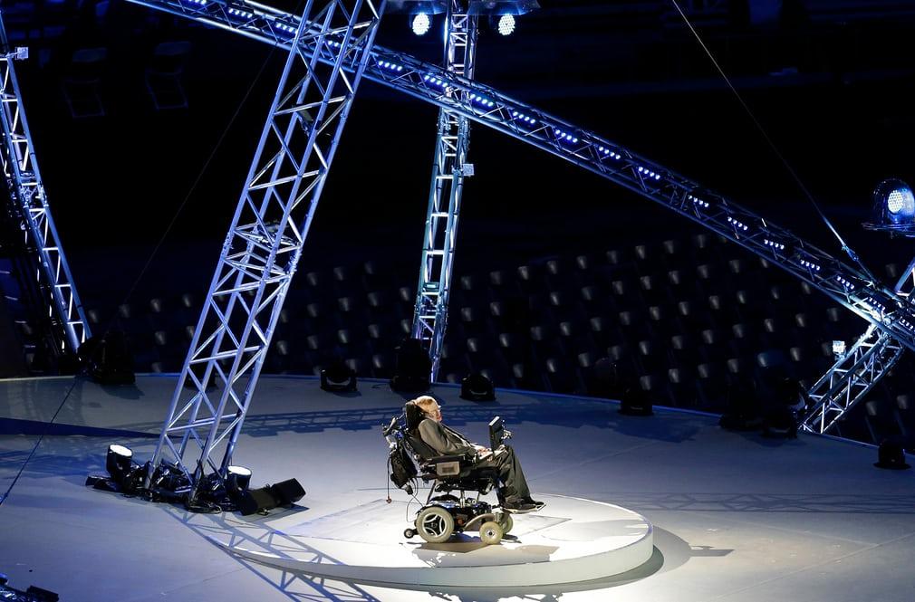 Durante un discurso en la ceremonia de apertura de los juegos paraolimpicos de Londres en 2012 (Lefteris Pitarakis/AP)