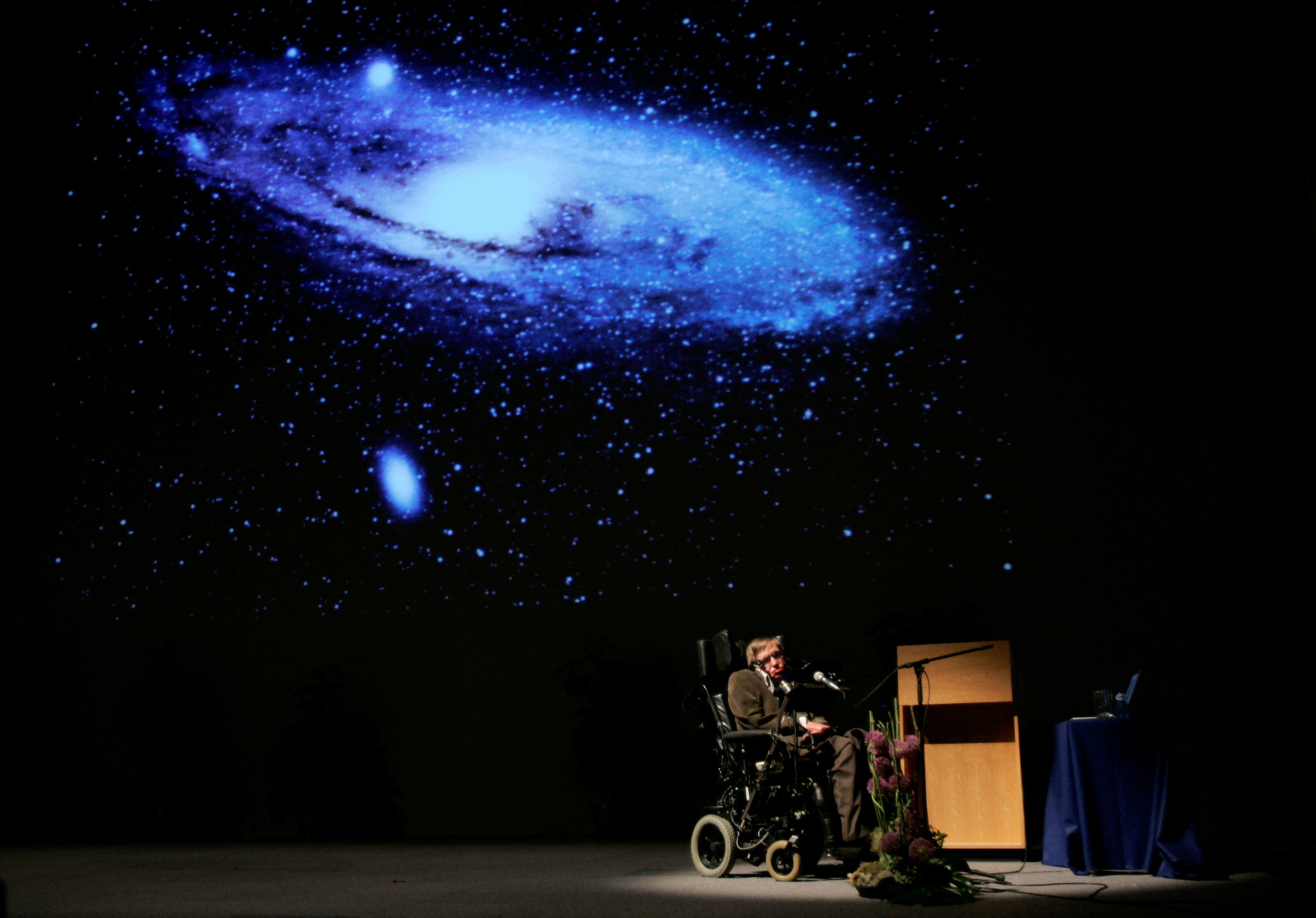 Hawking durante una conferencia en 2007(REUTERS/Francois Lenoir/archivo)