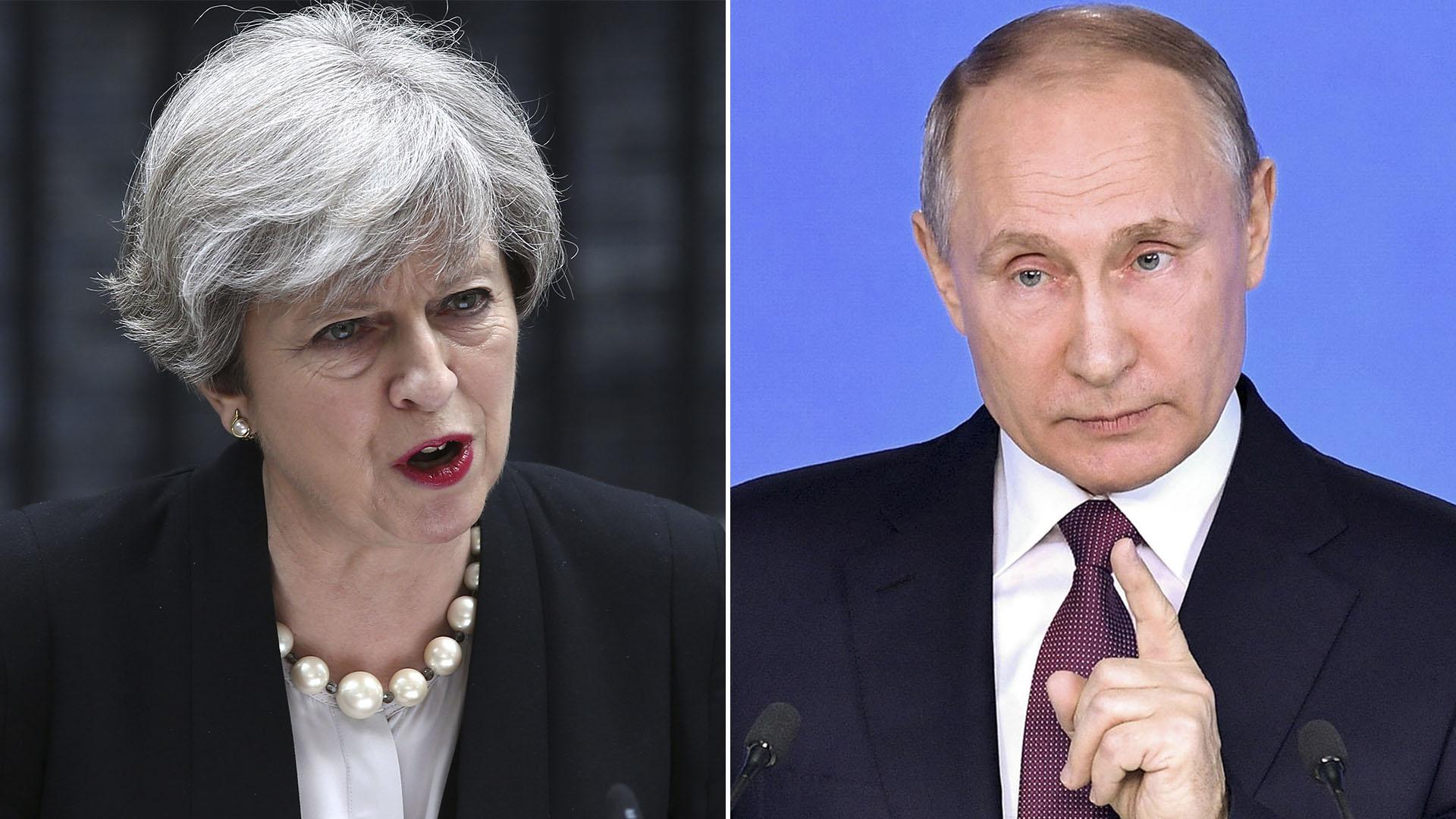Theresa May, Vladimir Putin partida