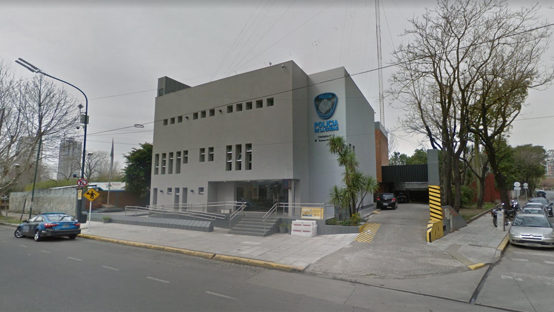 La Comisaría 13 dela Ciudad fue allanada este miércoles (Google maps)
