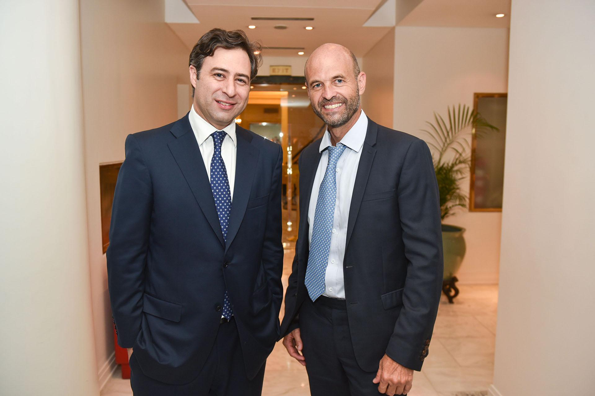 Martín Eurnekian junto a Guillermo Dietrich