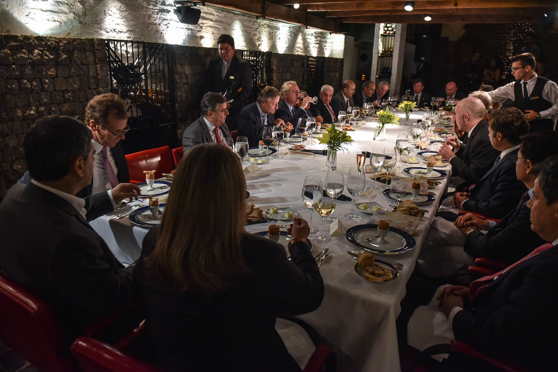 Los invitados disfrutaron de una cena en el prestigioso La Bourgogne en el Alvear Palace Hotel